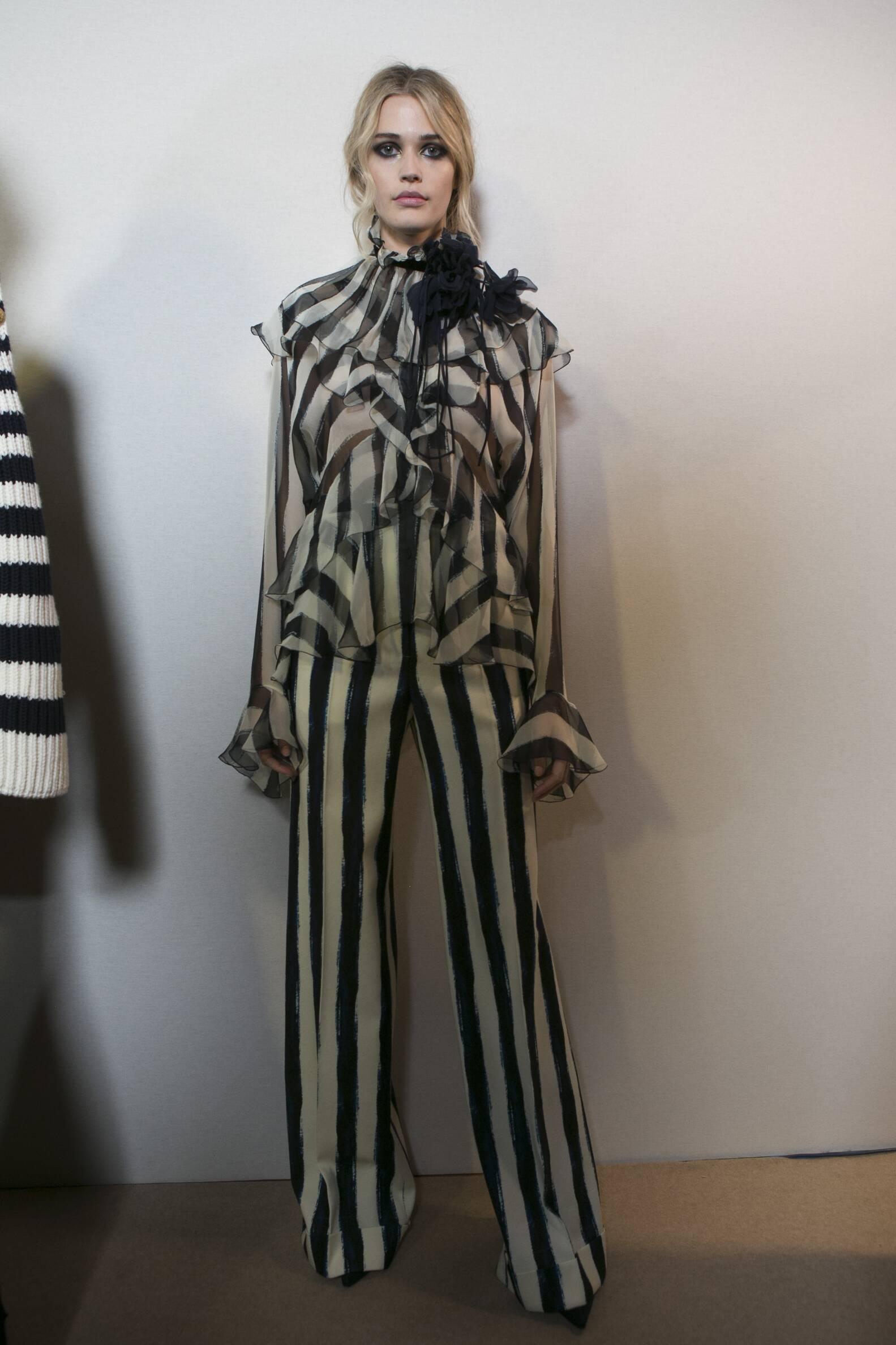 Fall 2017 Woman Trends Backstage Alberta Ferretti