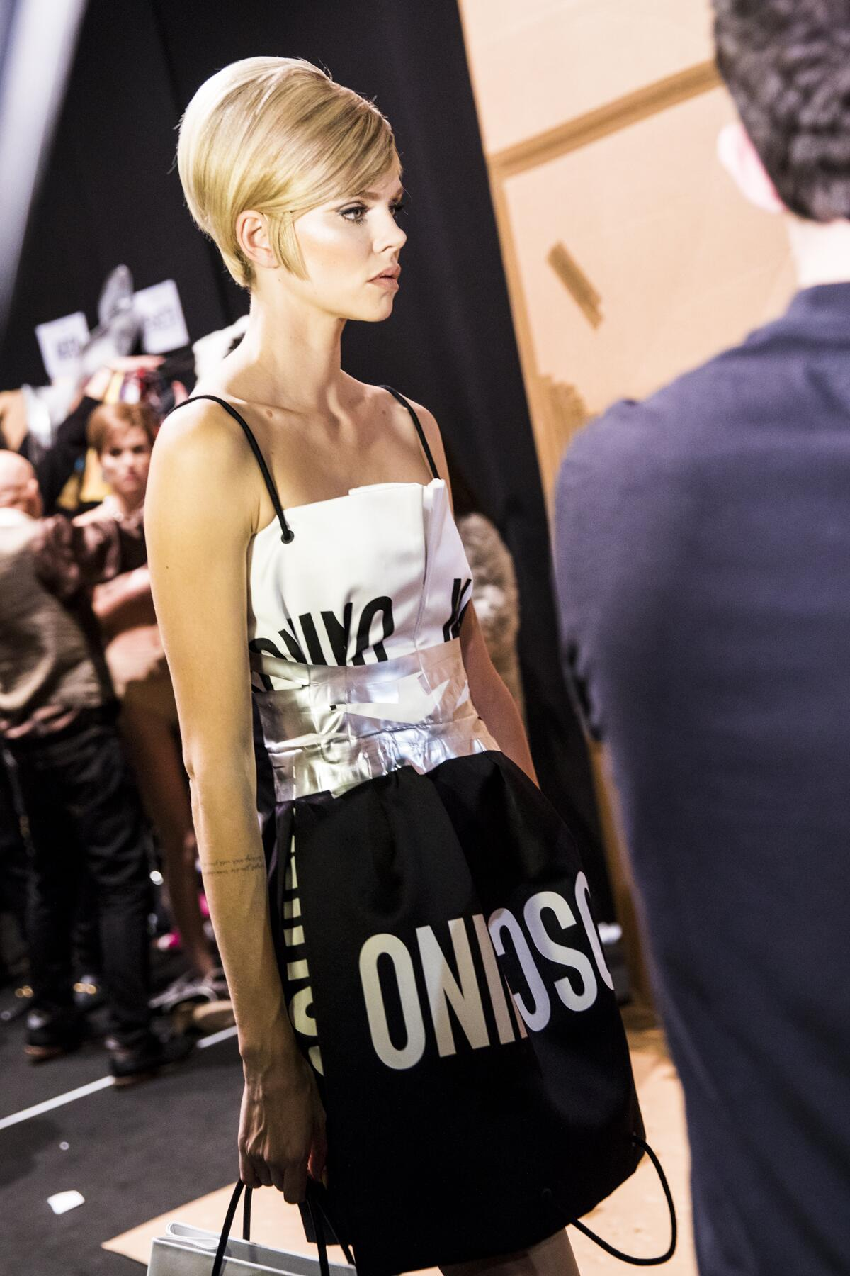 Fall 2017 Woman Trends Backstage Moschino