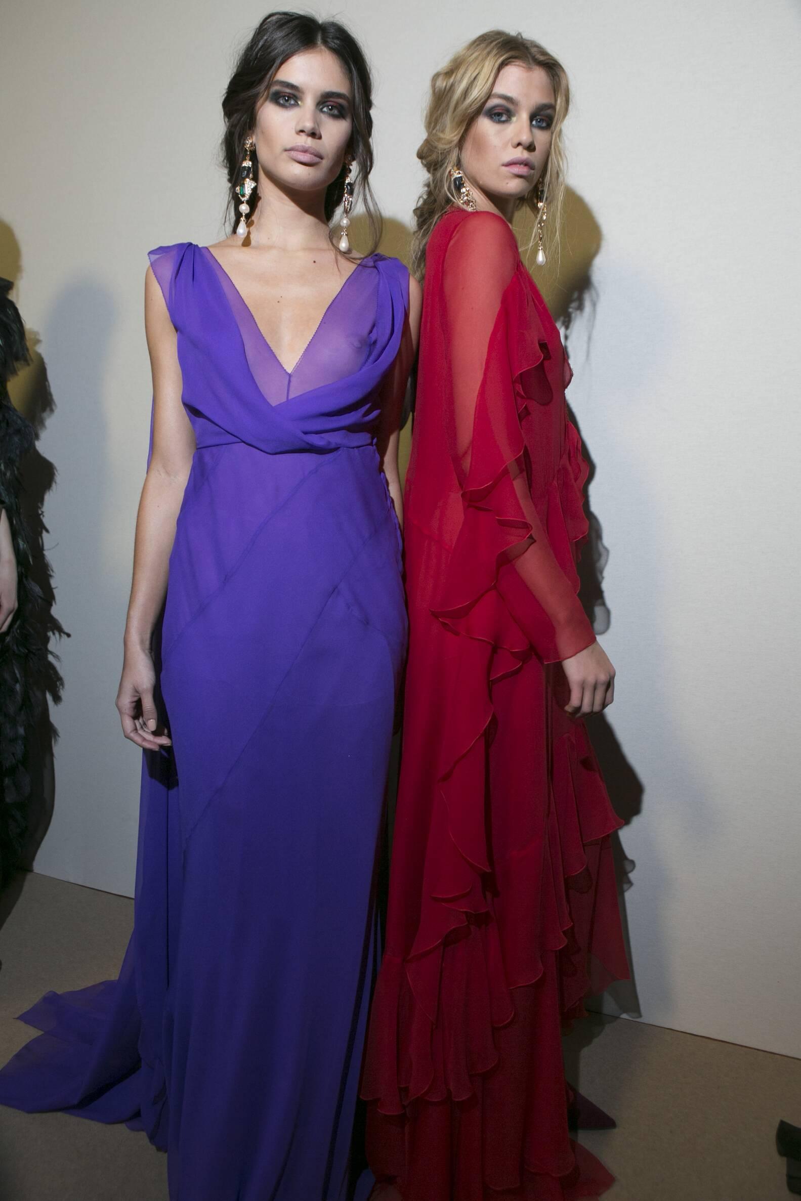 Fall Fashion 2017-18 Backstage Alberta Ferretti