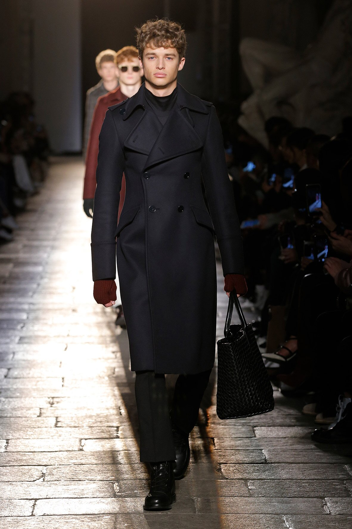 Fashion Man Model Bottega Veneta Catwalk