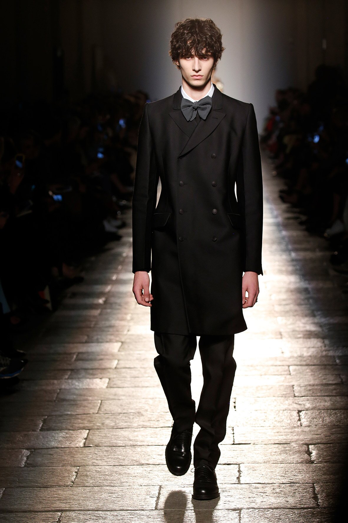 Fashion Man Model Bottega Veneta Runway