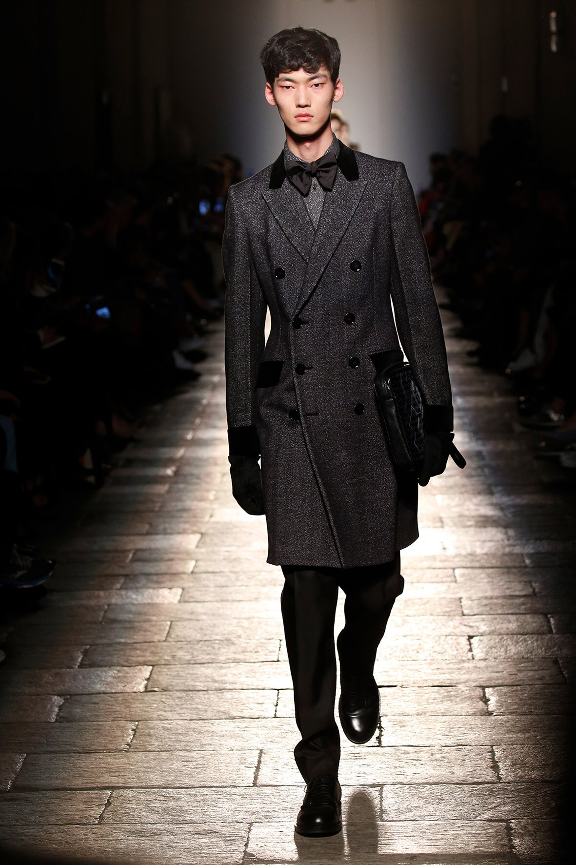 Fashion Model Bottega Veneta Catwalk