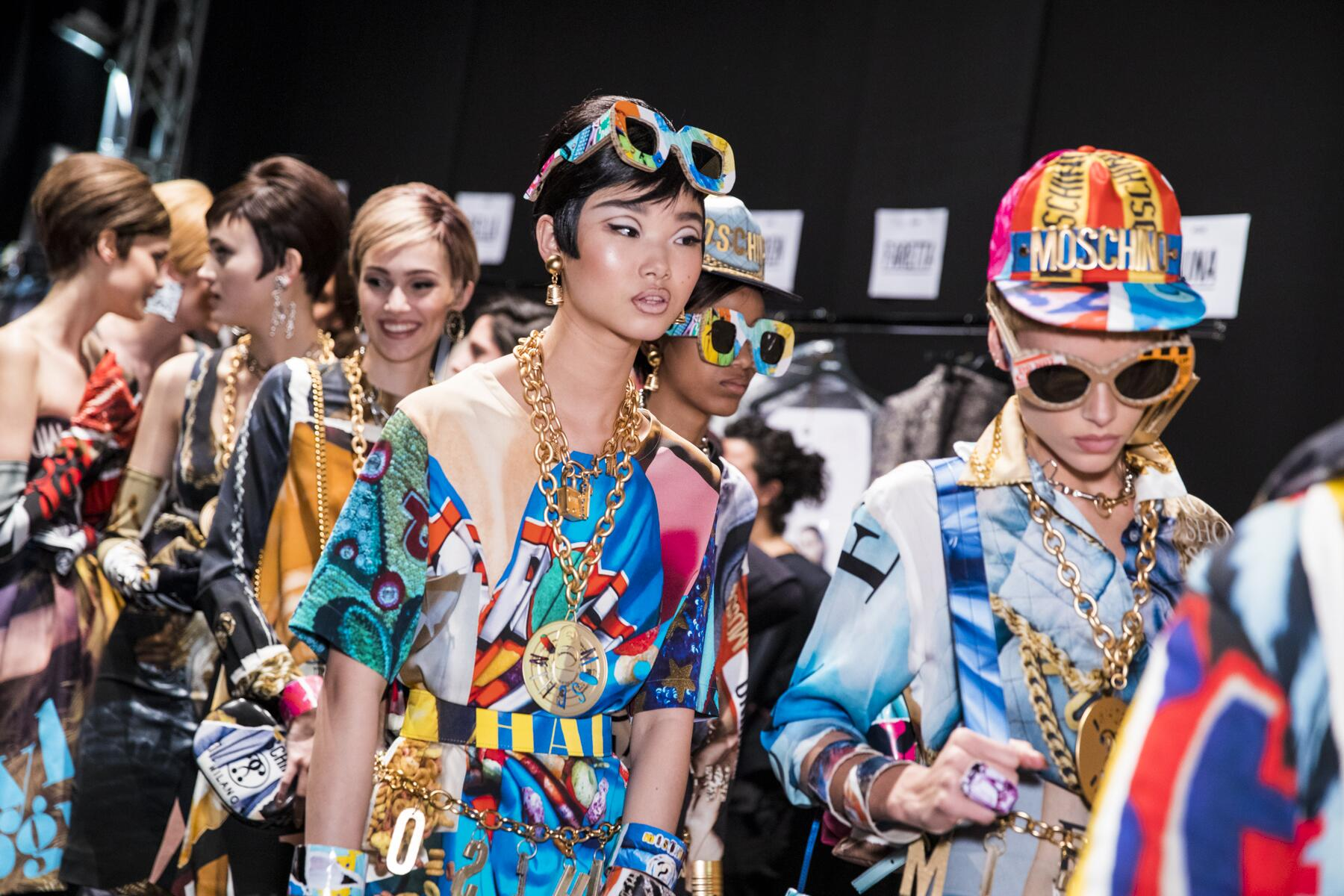 Fashion Models Backstage MoschinoBackstage Moschino Milan Fashion Week Details