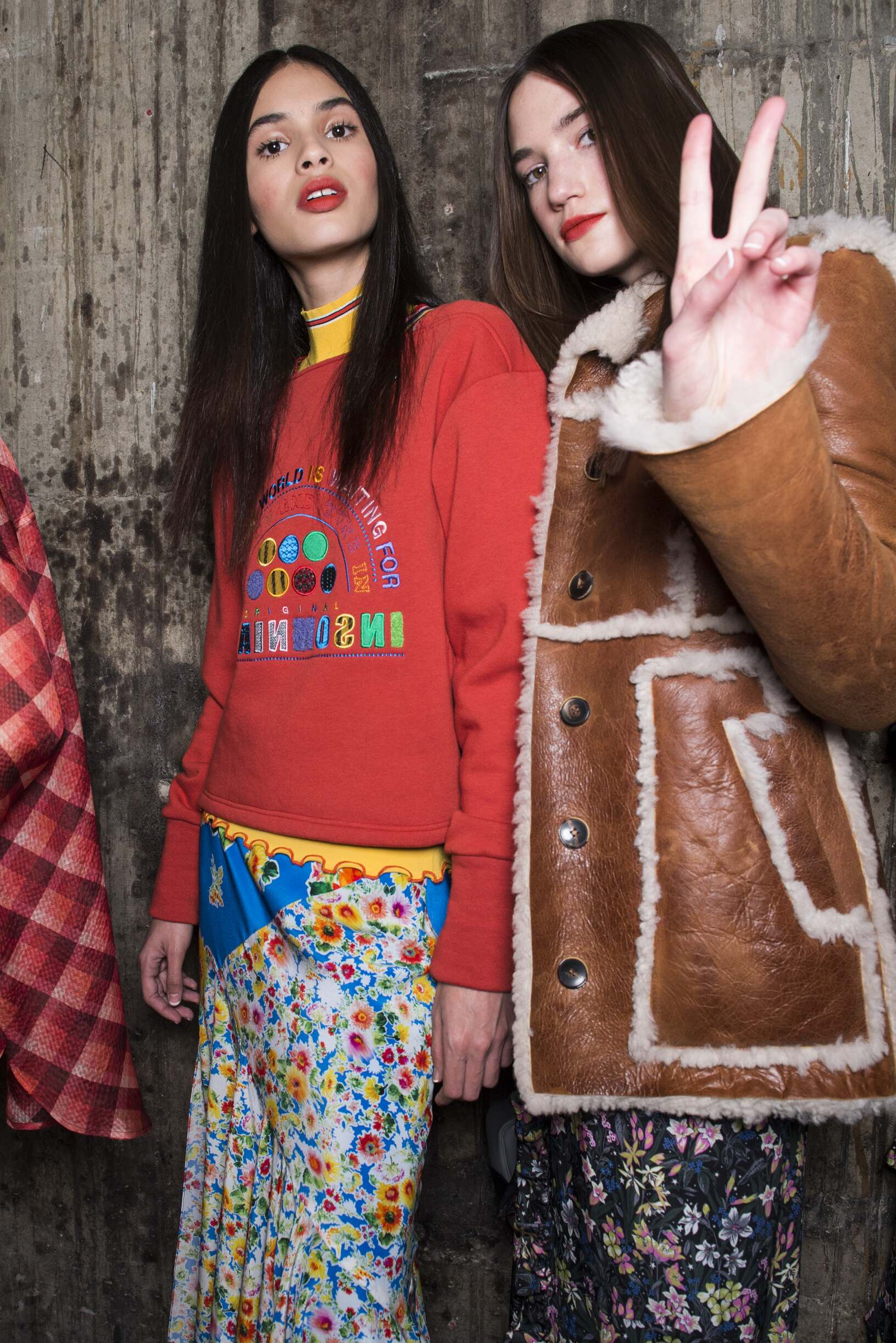 Fashion Show Backstage Topshop Unique Winter 2017-18 Collection