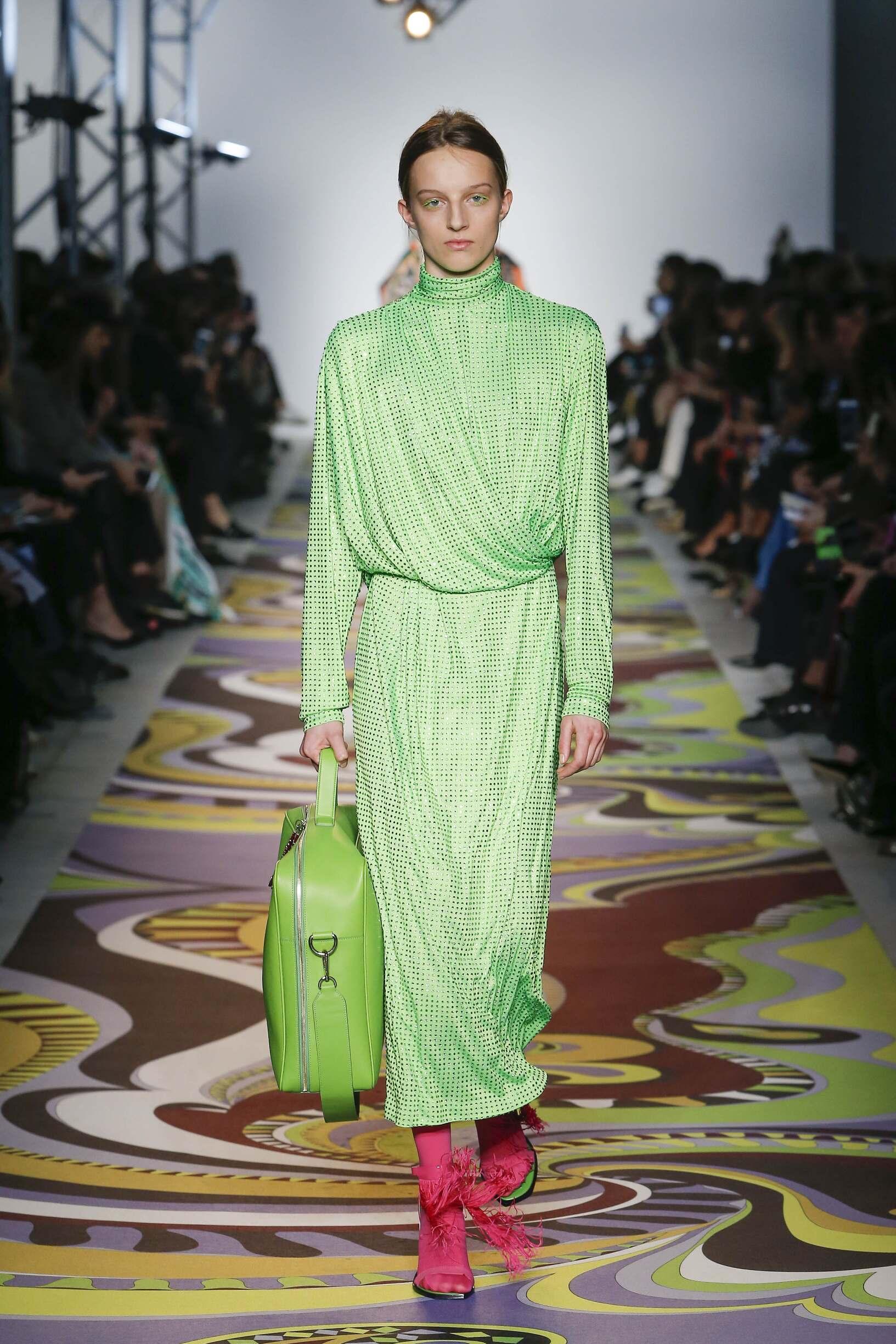 Fashion Woman Model Emilio Pucci Catwalk