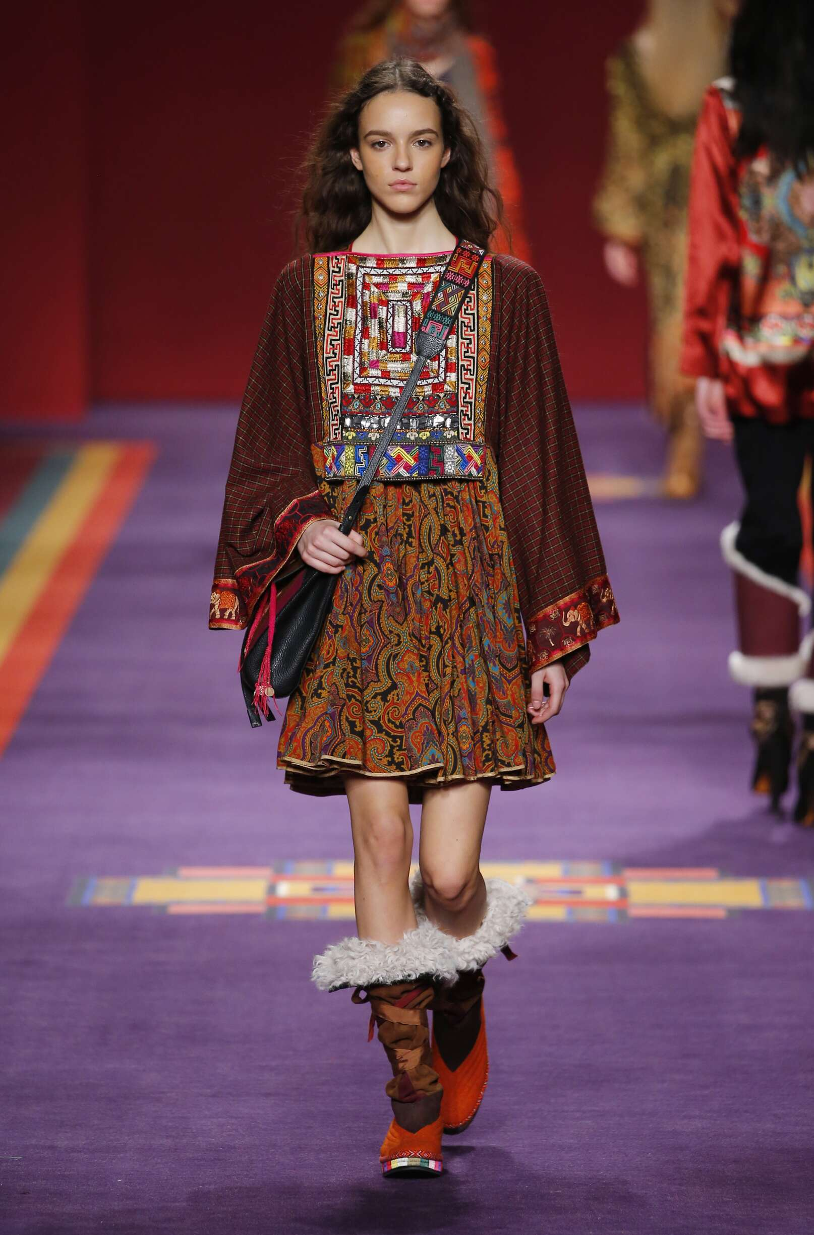 Fashion Woman Model Etro Catwalk