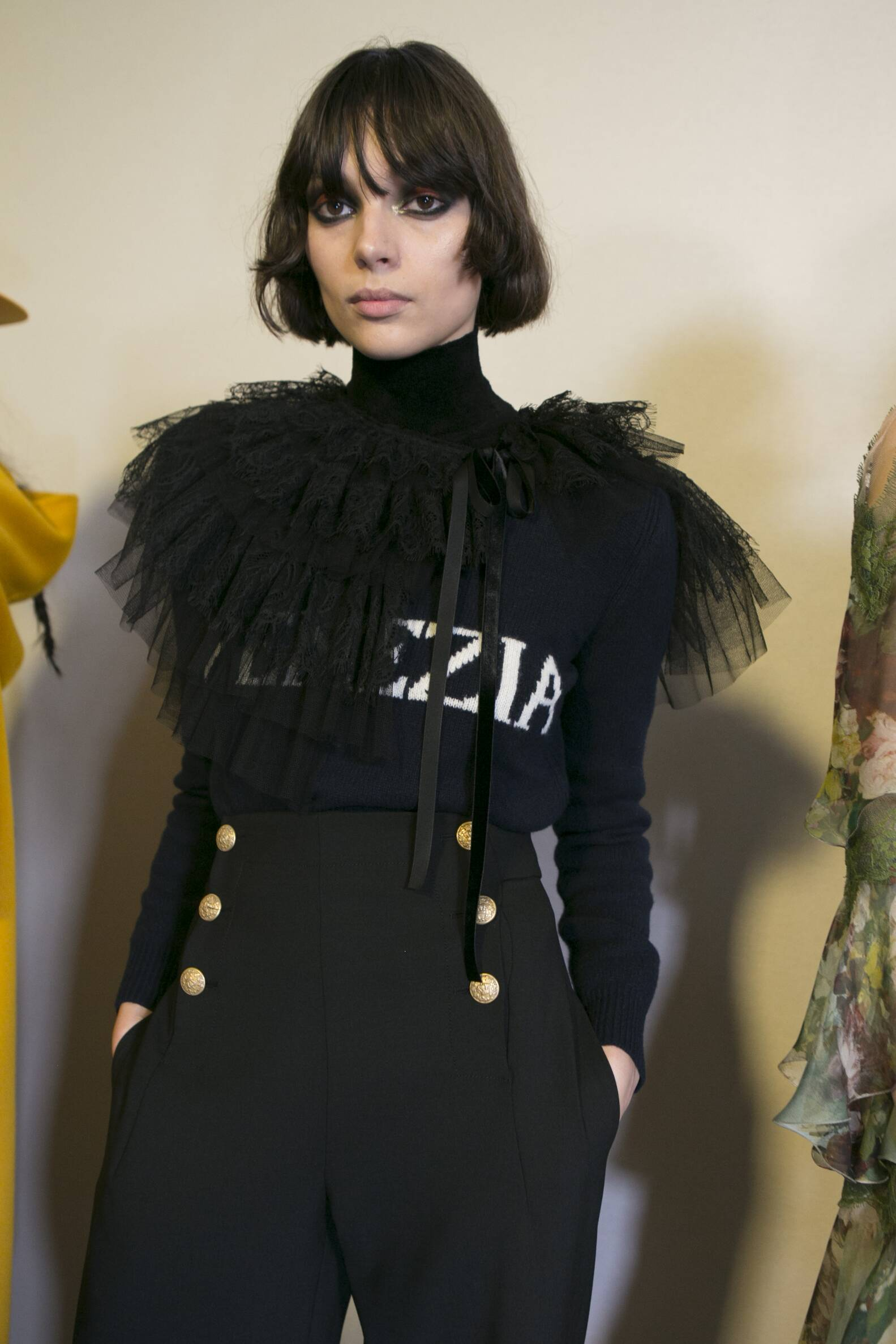 Model Woman Fall Winter 2017-2018 Backstage Alberta Ferretti