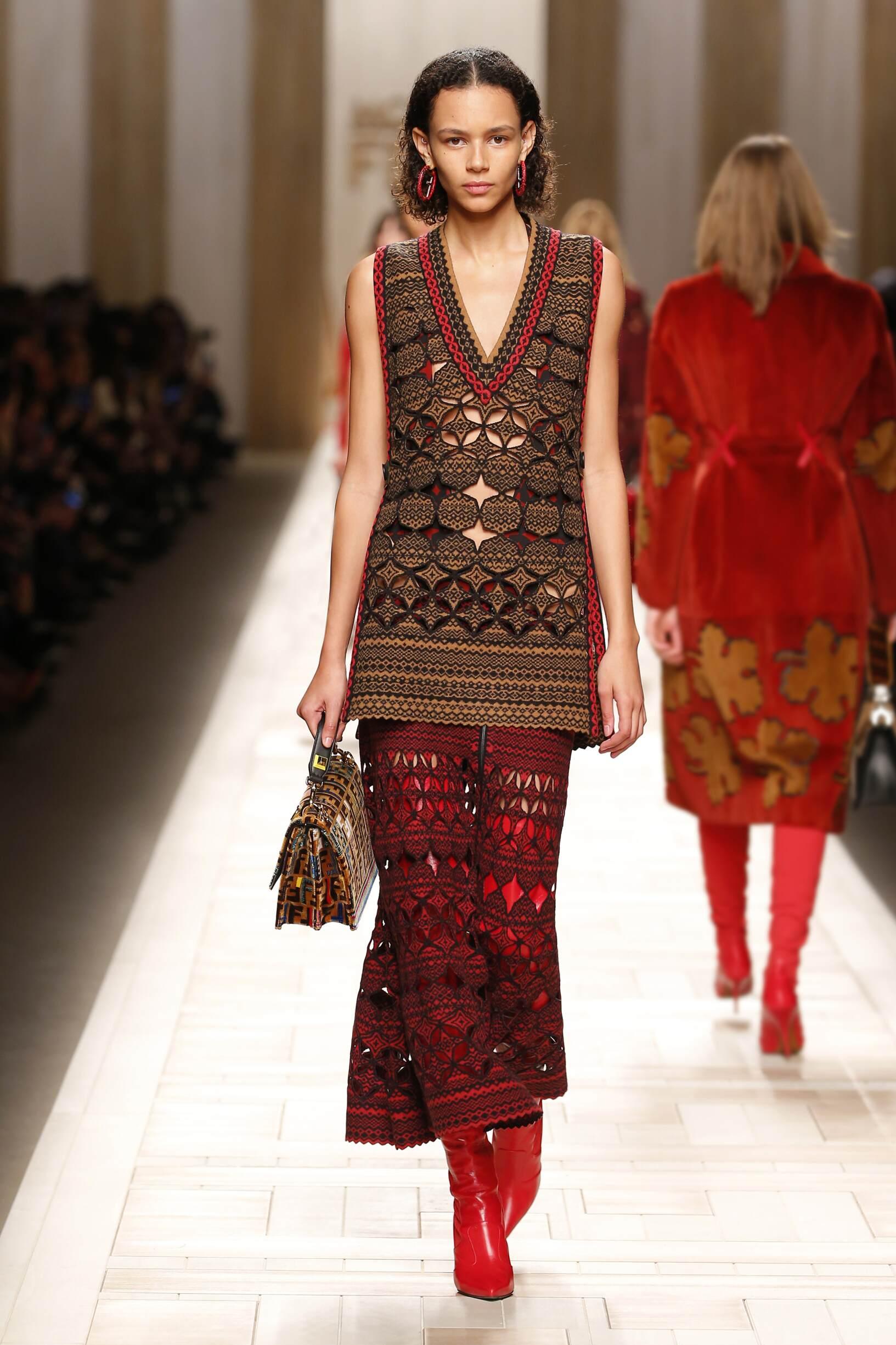Runway Fendi Fall Winter 2017 Women's Collection Milan Fashion Week