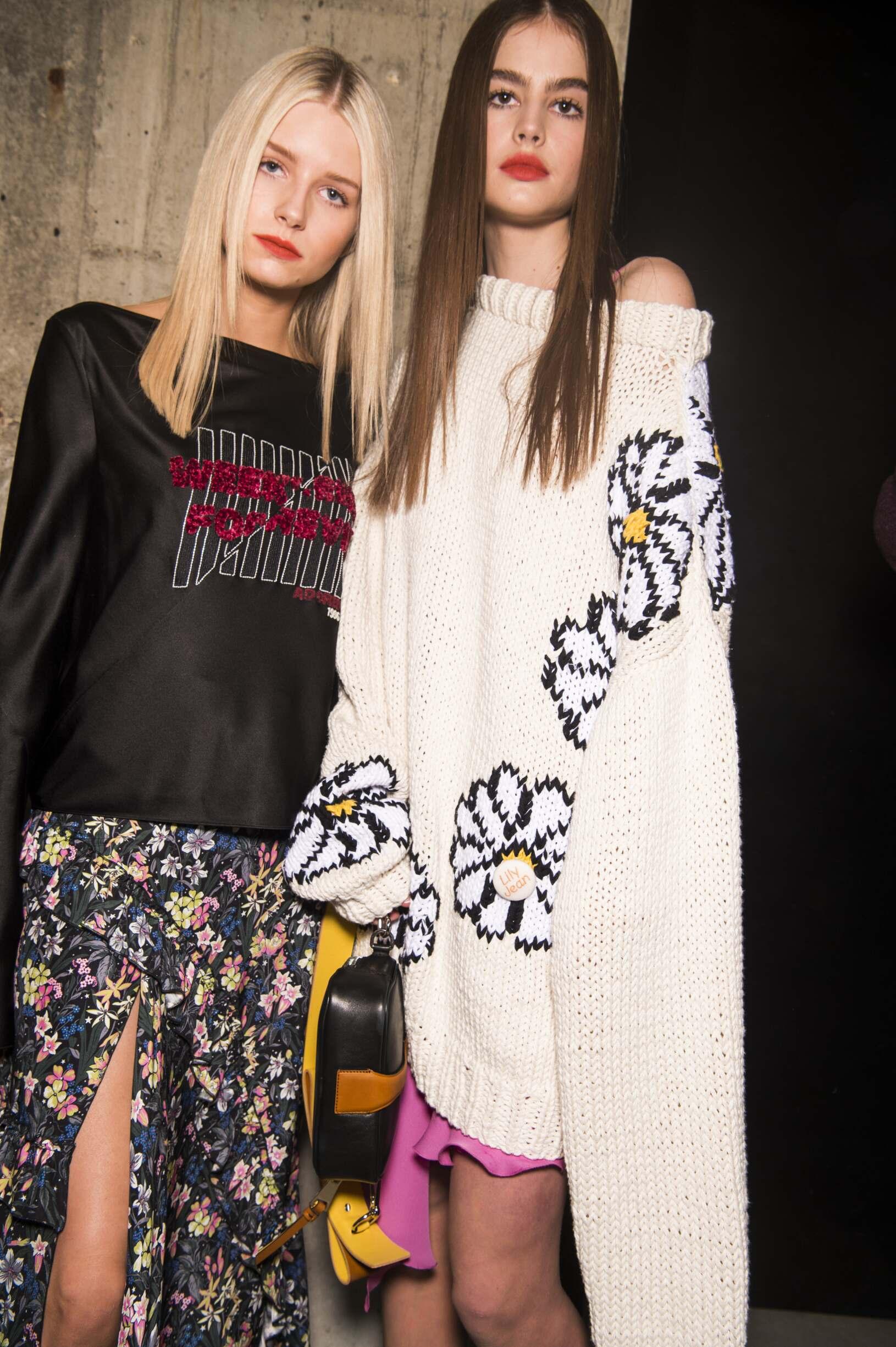 Topshop Unique Backstage Fashion Models FW 2017-18