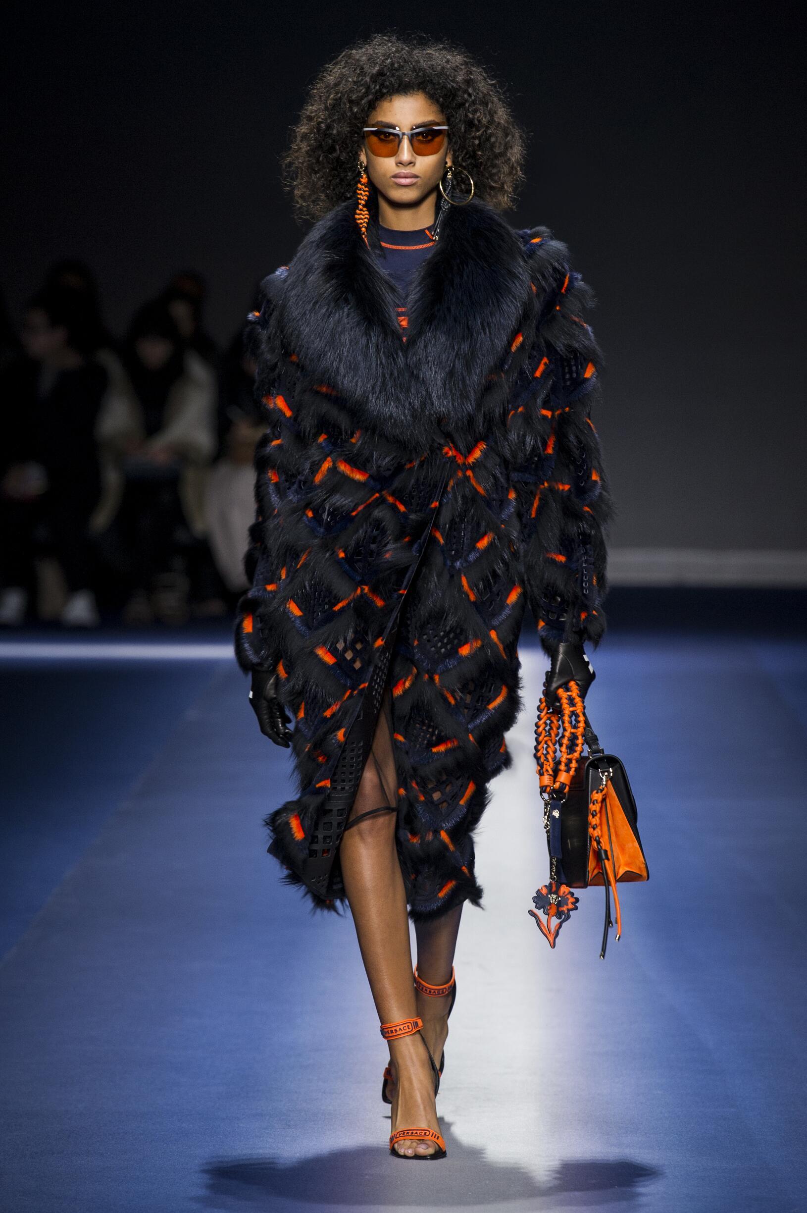 Versace Woman Milan Fashion Week