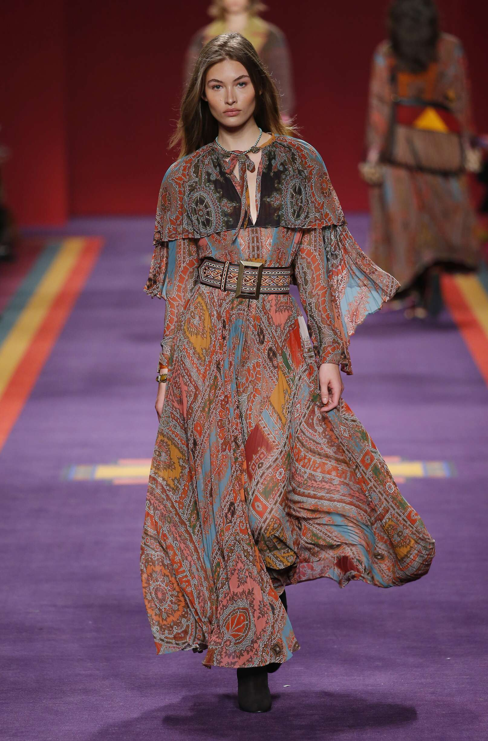 Woman Model Fashion Show Etro