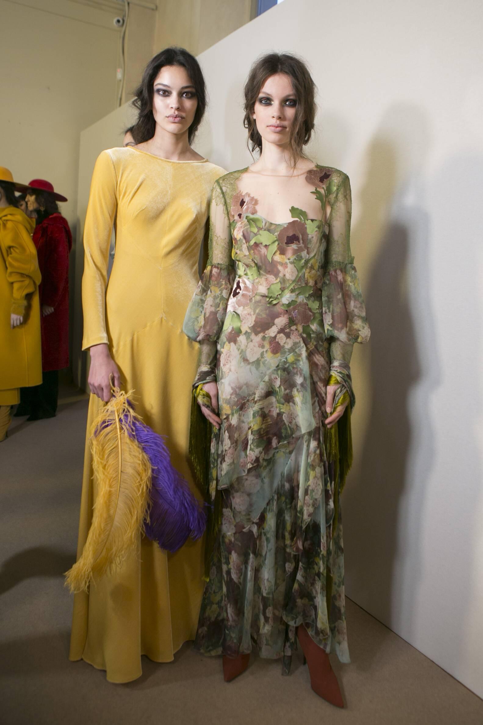 Women Fall 2017 Backstage Alberta Ferretti