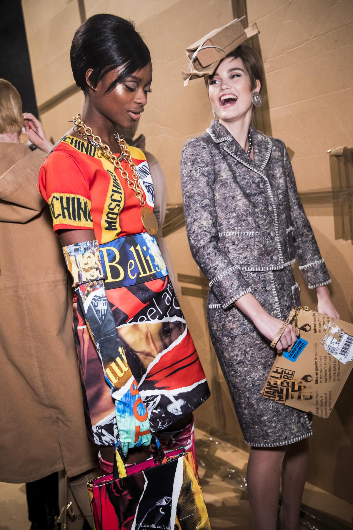 Women Fall 2017 Backstage Moschino