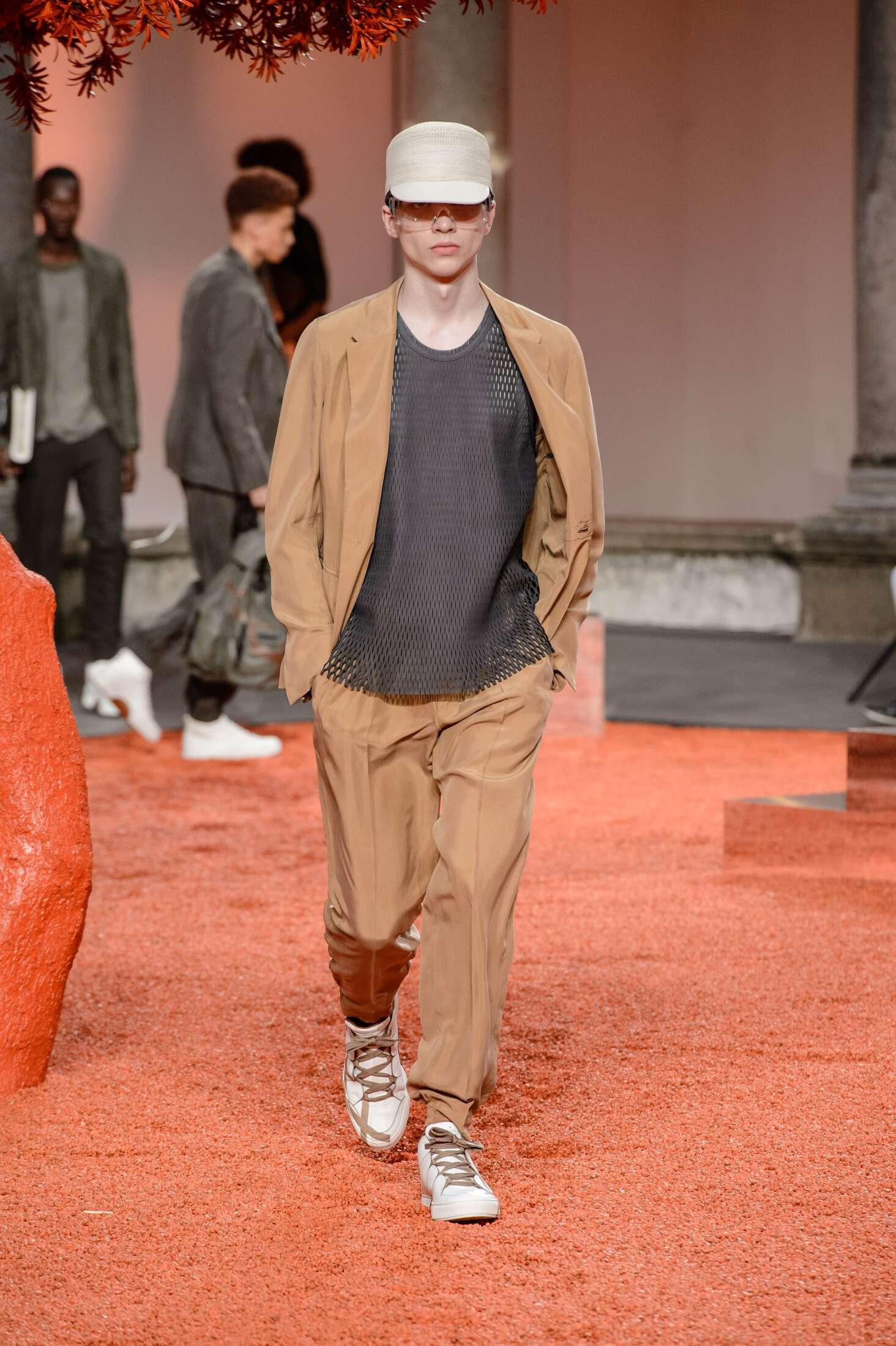 2018 Catwalk Ermenegildo Zegna Couture Man Fashion Show Summer