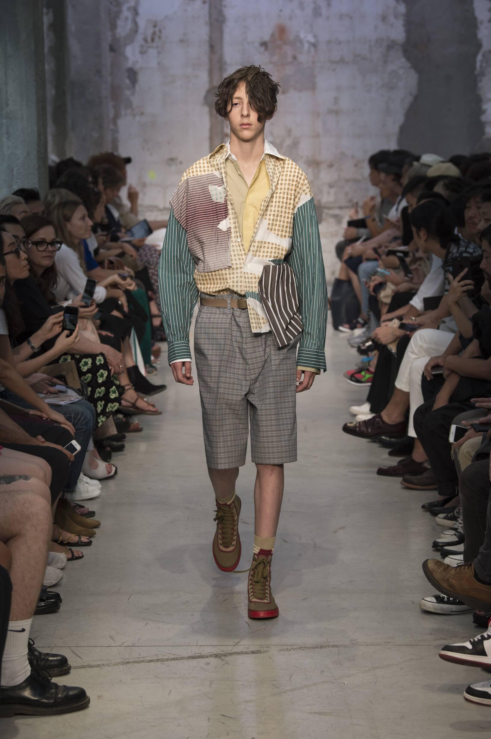 2018 Catwalk Marni Man Fashion Show Summer
