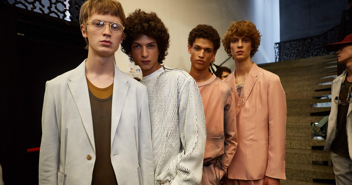 Backstage Ermenegildo Zegna Couture Fashion Show 2018 Milan