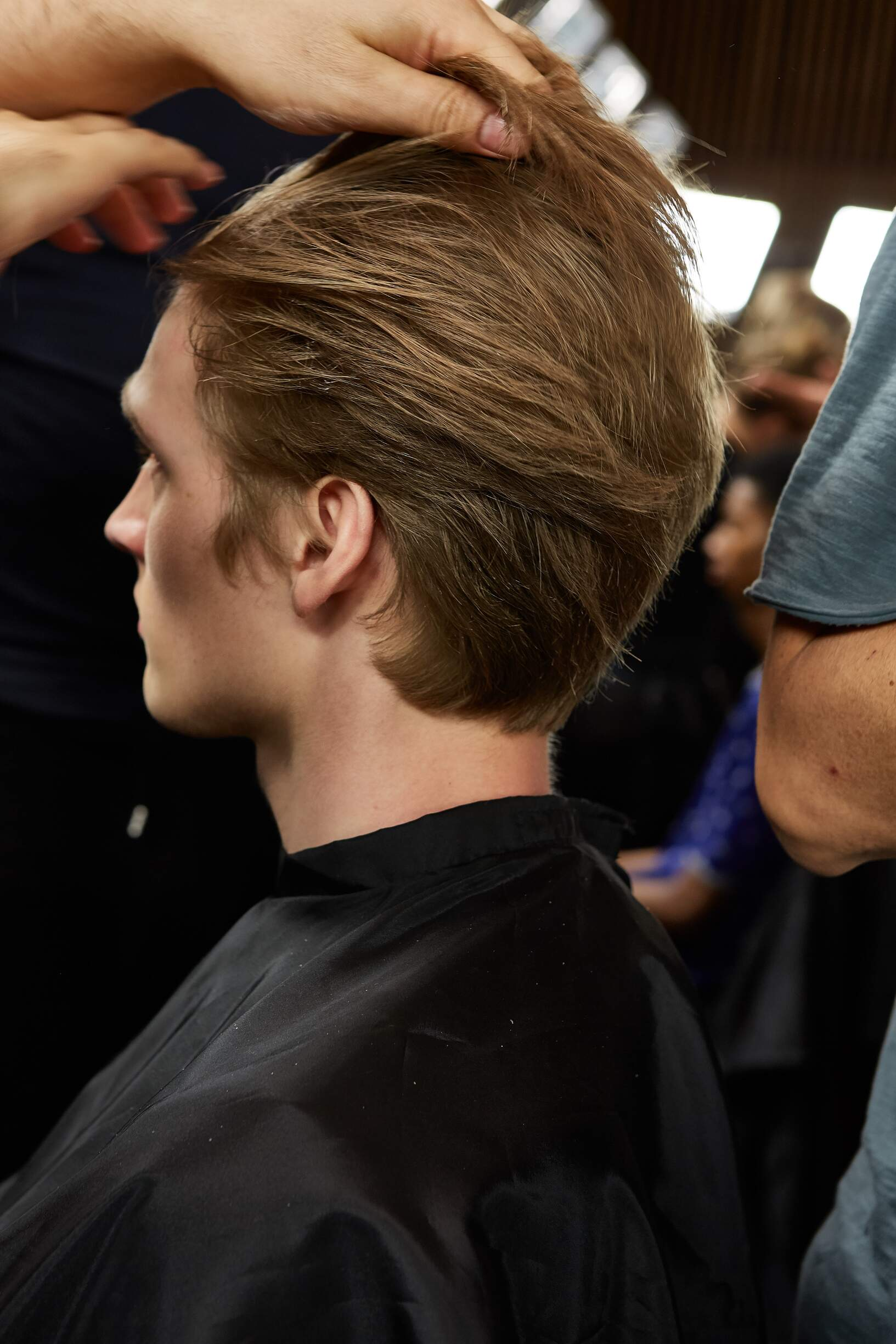 Backstage Ermenegildo Zegna Couture Hairstyle 2018
