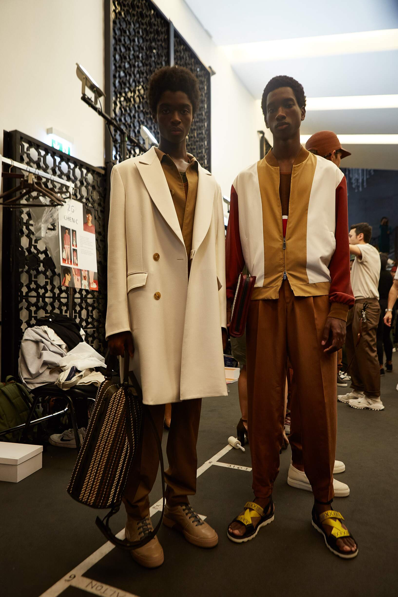 Backstage Ermenegildo Zegna Couture Milan Fashion Week Models