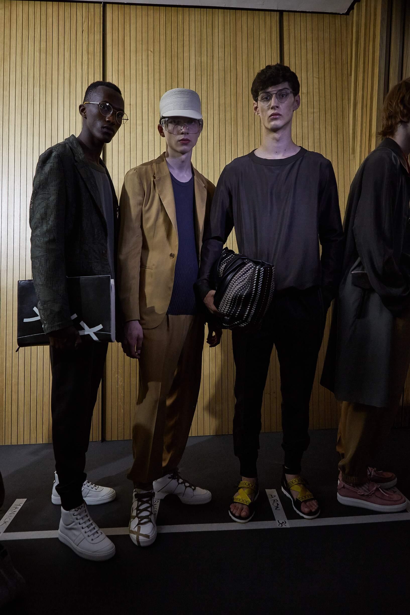 Backstage Ermenegildo Zegna Couture Models Spring 2018 Collection Milan Fashion Week