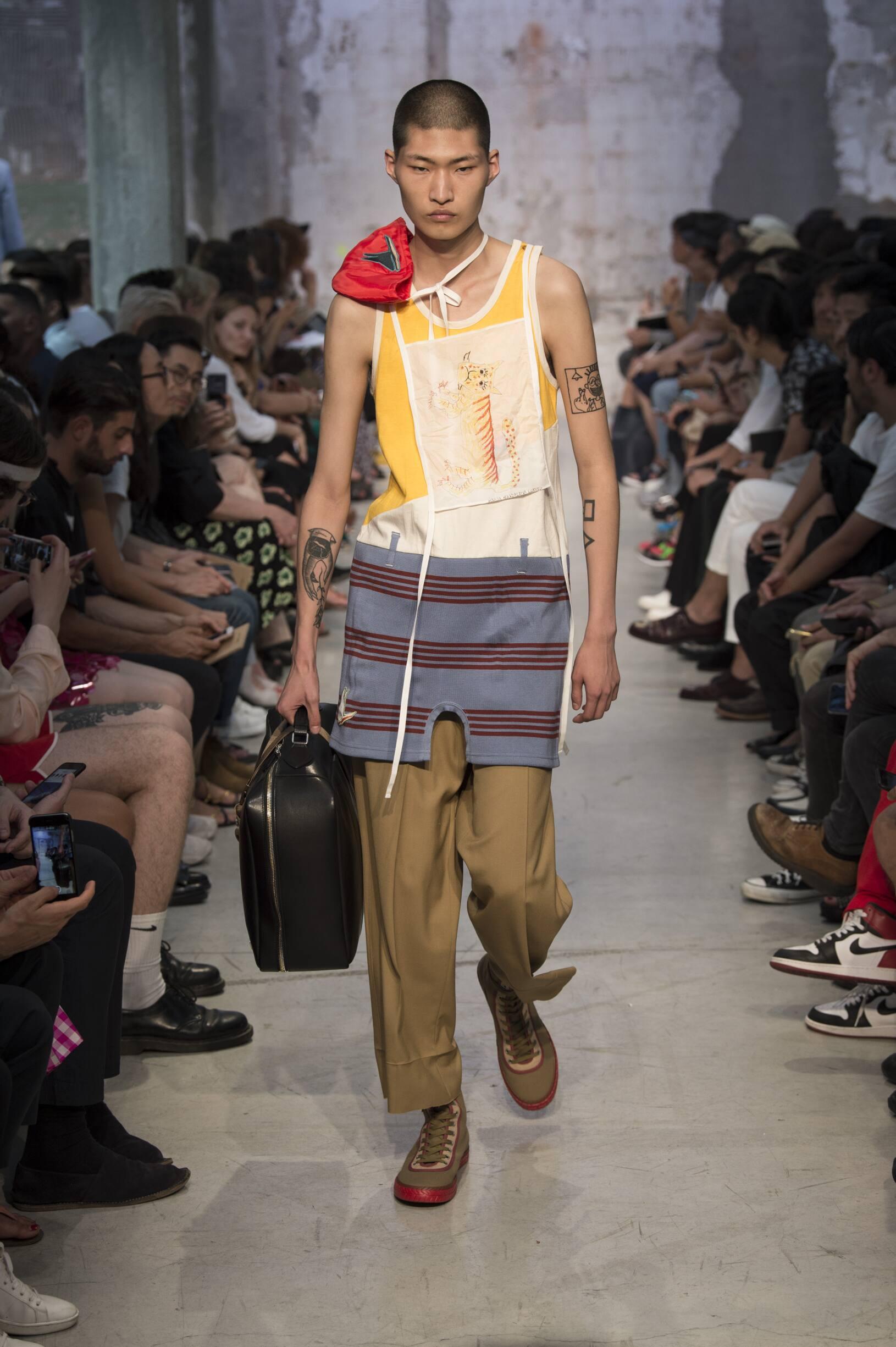 Catwalk Marni Man Fashion Show Summer 2018