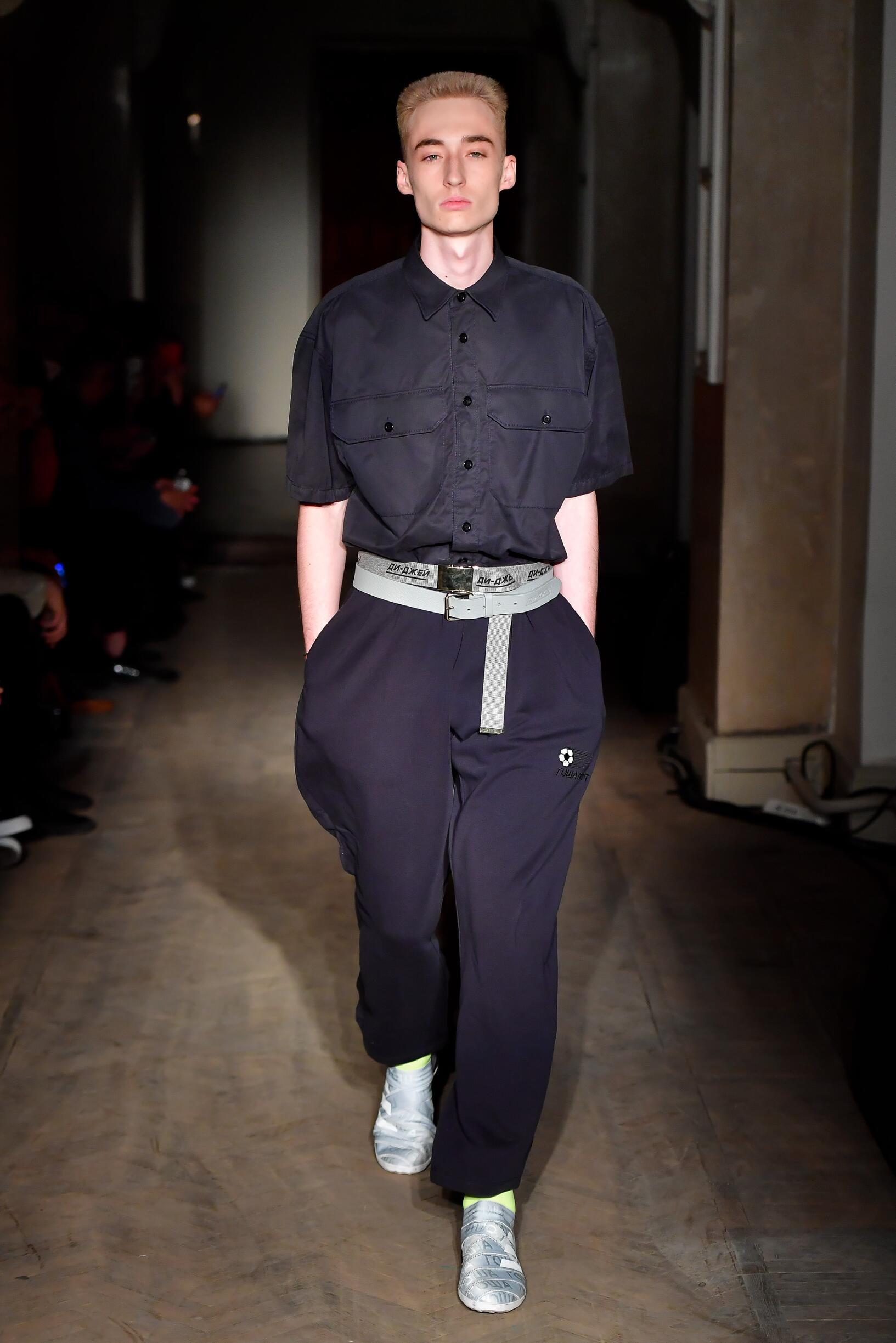 Fashion Man Model Gosha Rubchinskiy Catwalk 2018
