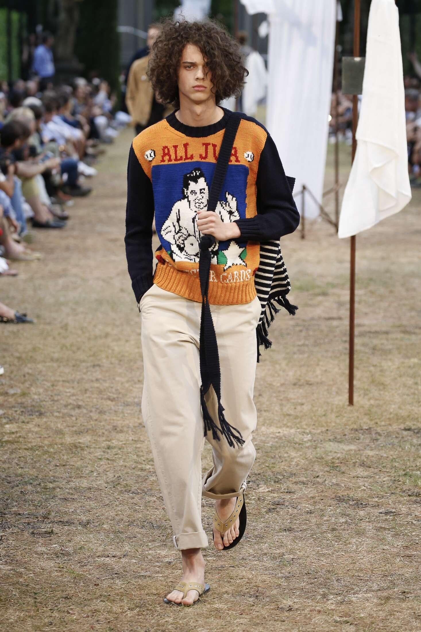 Fashion Man Model J.W. Anderson Catwalk