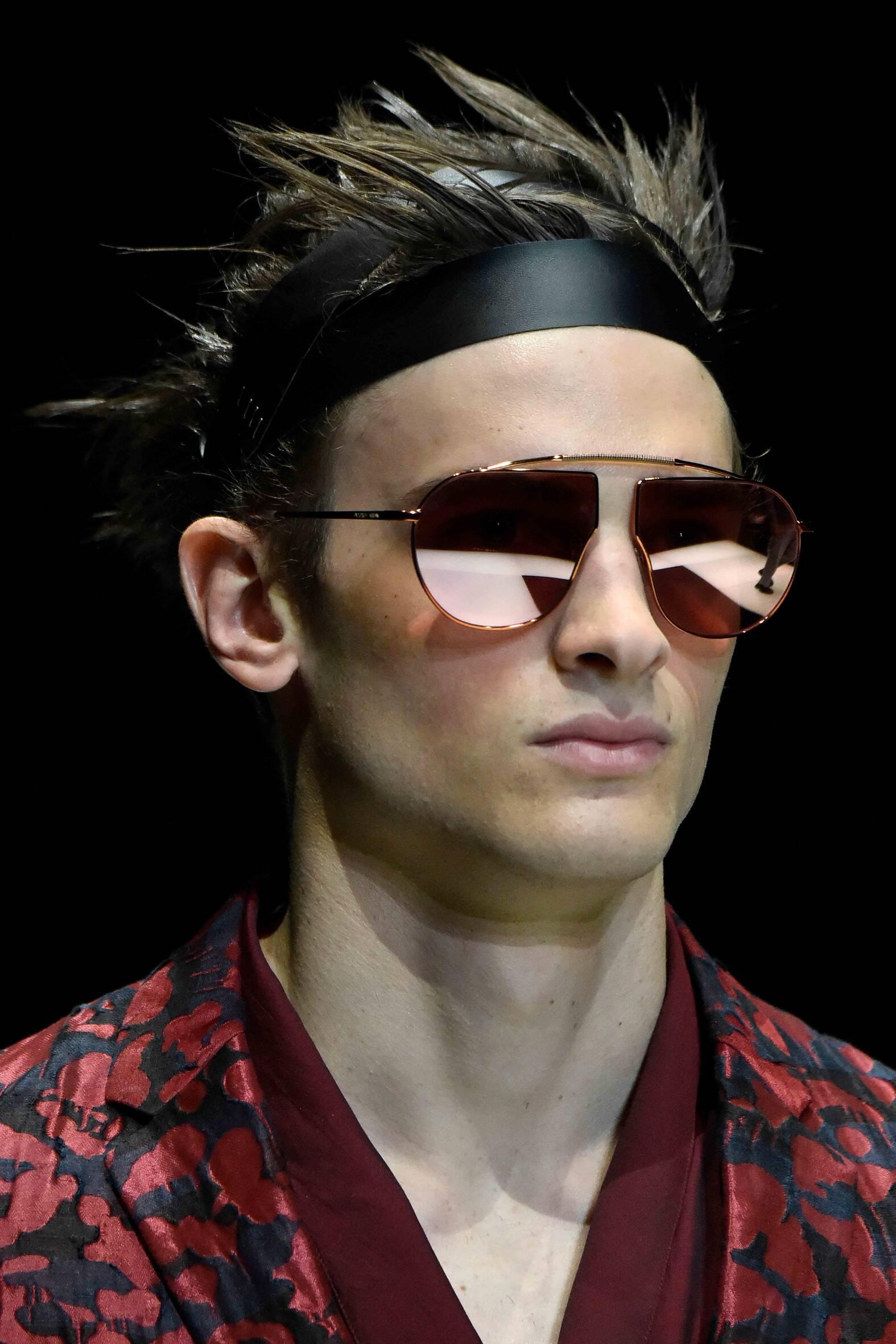 Fashion Model Emporio Armani Catwalk