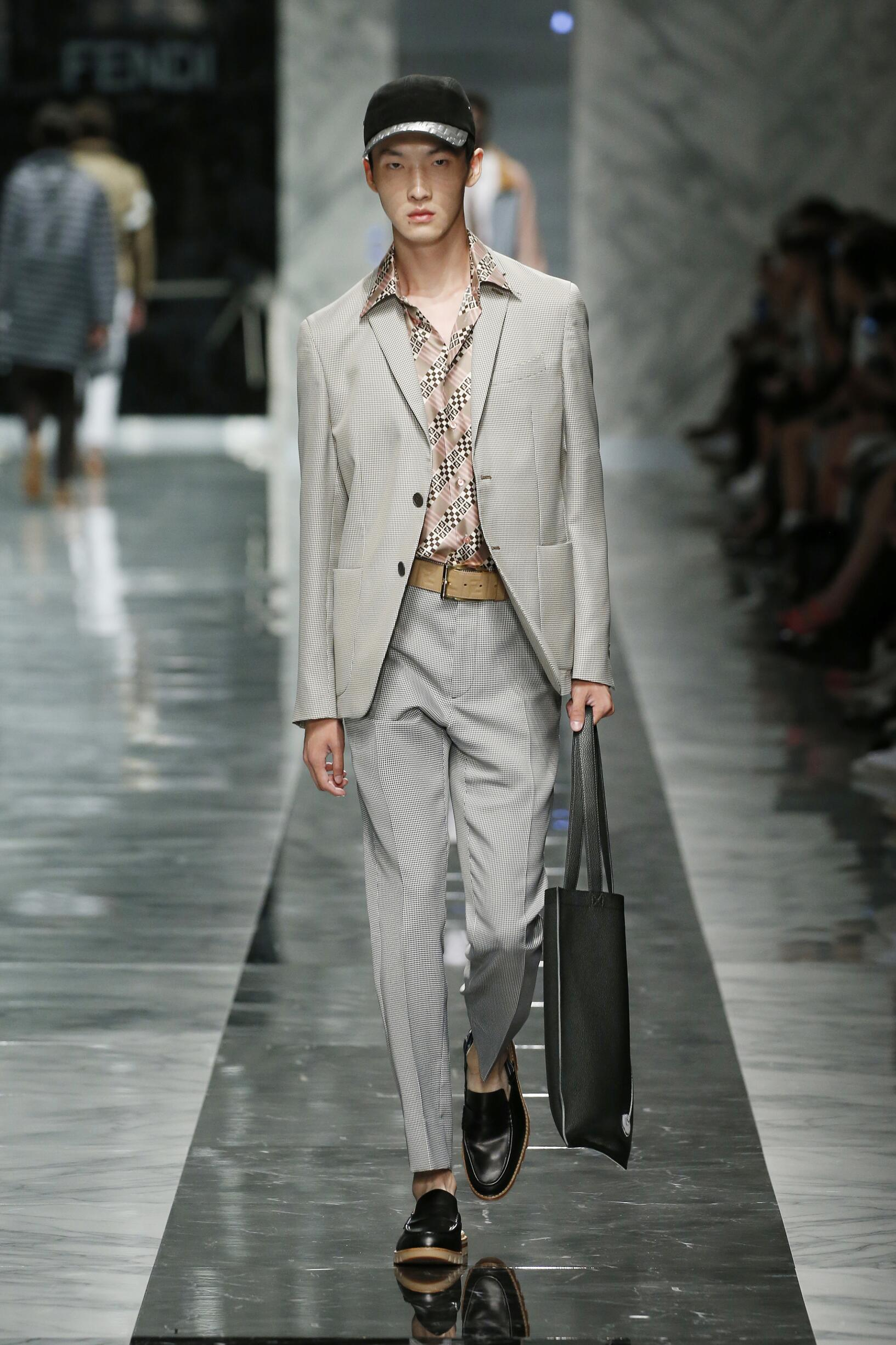 Fashion Model Fendi Catwalk