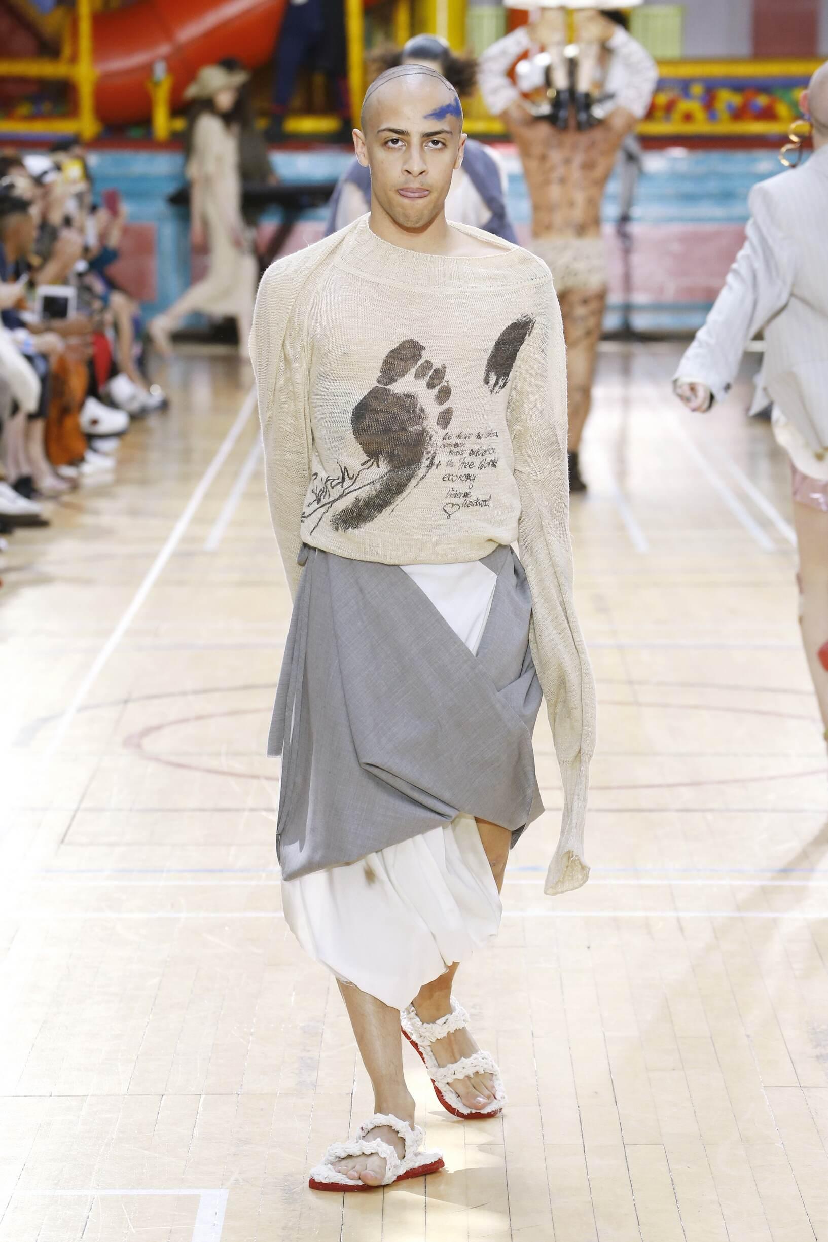 Fashion Model Vivienne Westwood Catwalk