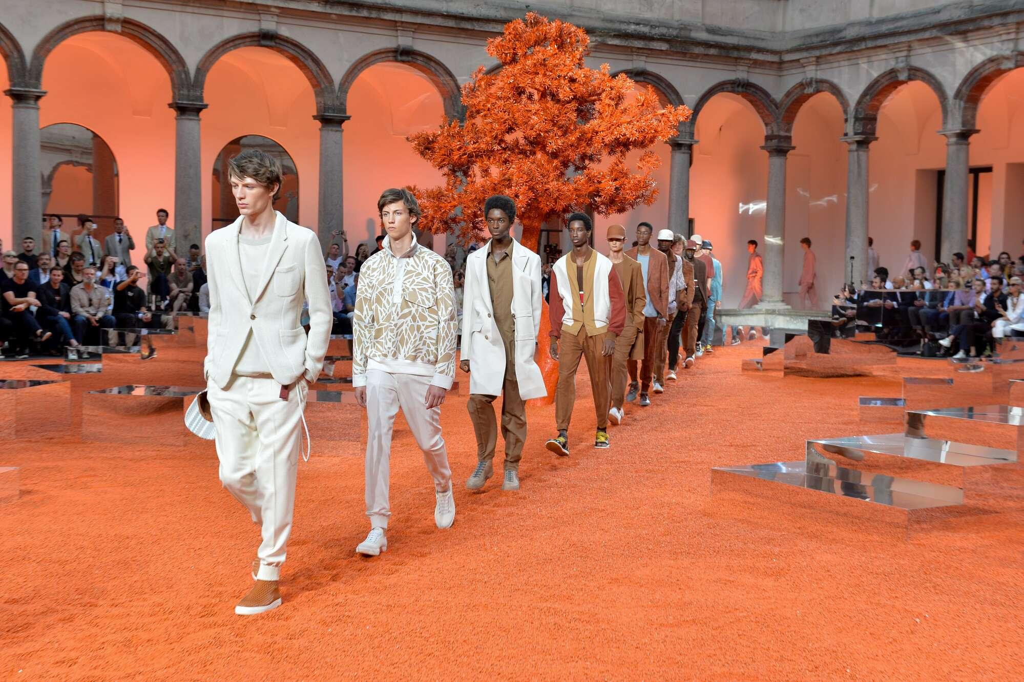 Fashion Show Finale Ermenegildo Zegna Couture