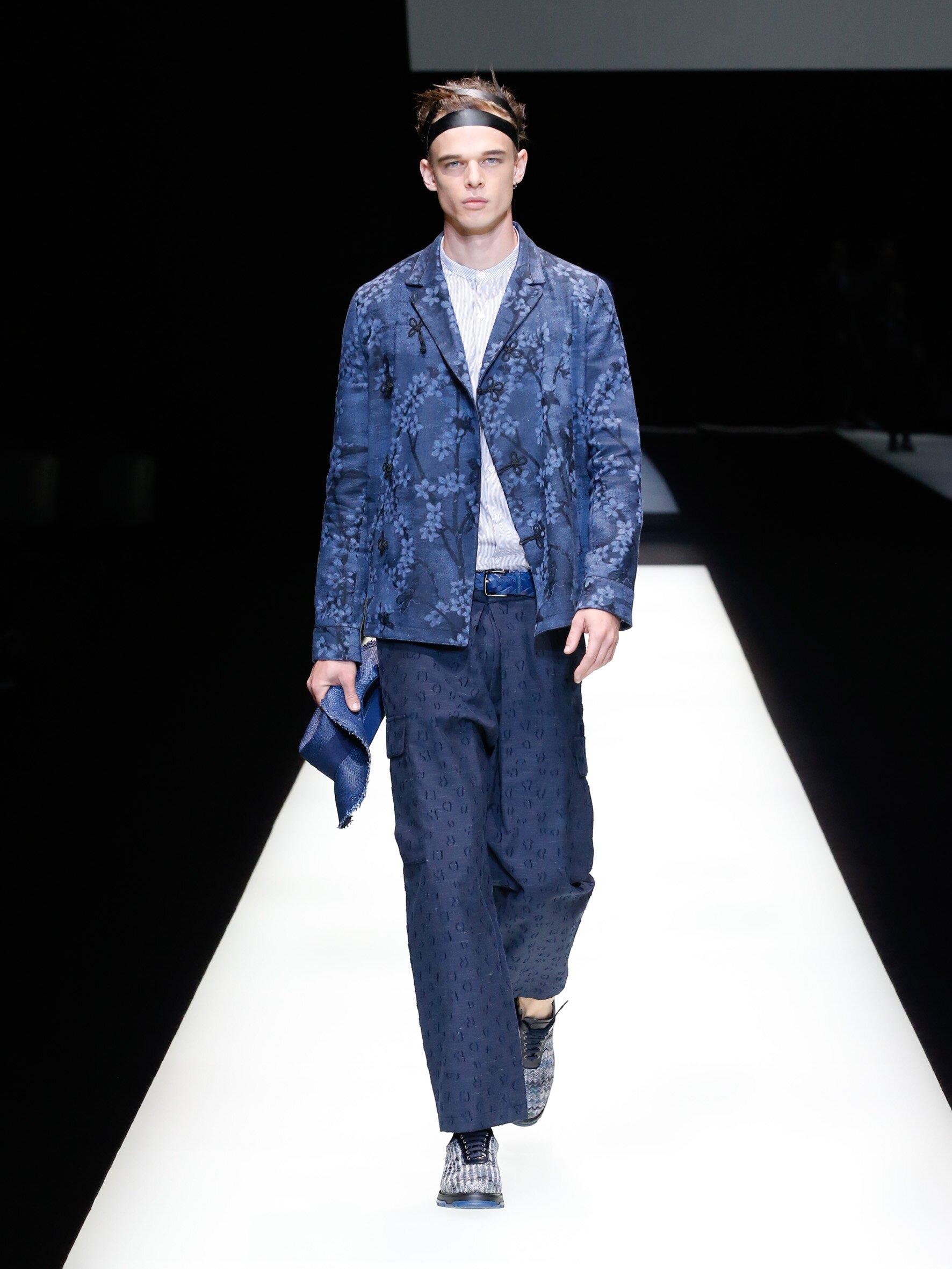 Model Fashion Show Emporio Armani
