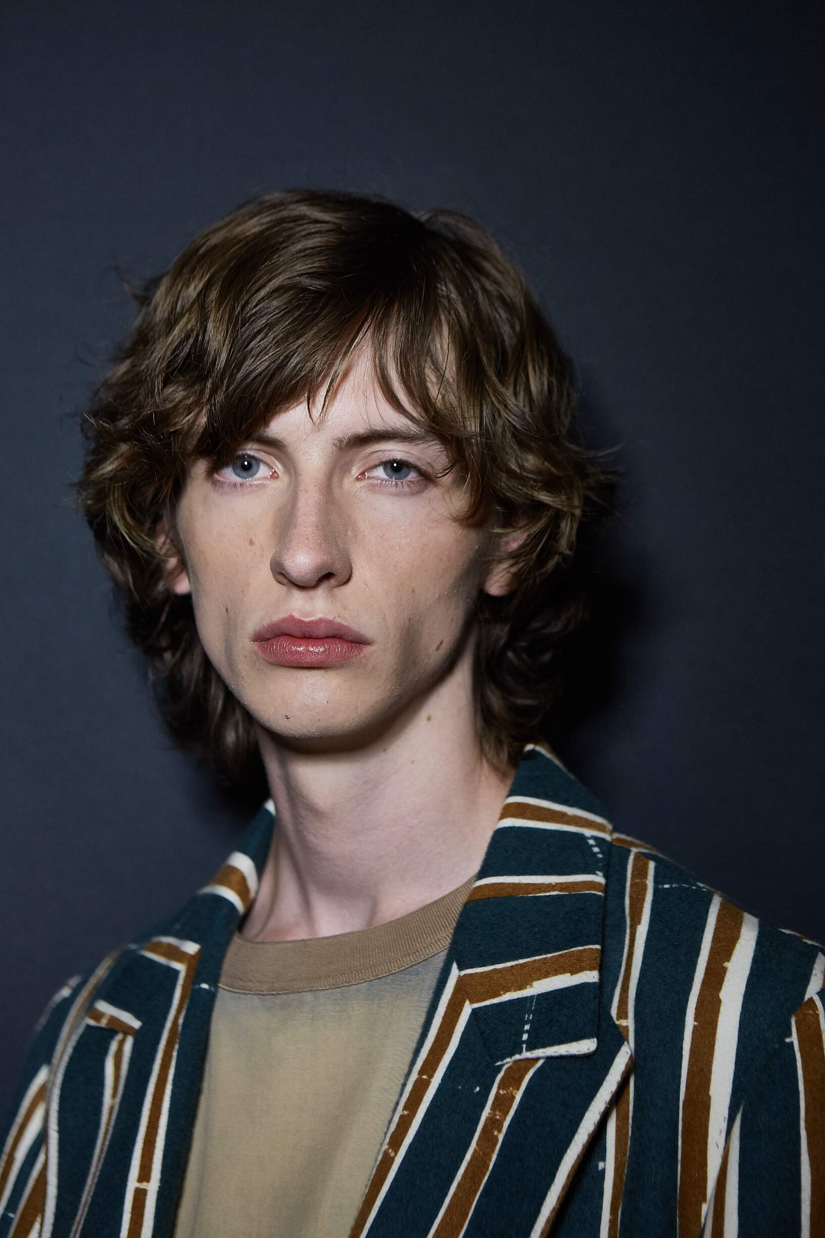 Model Portrait Backstage Ermenegildo Zegna Couture