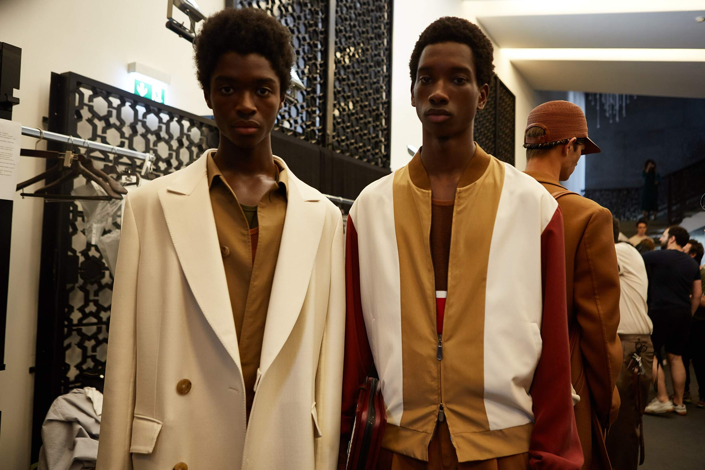 Models 2018 Backstage Ermenegildo Zegna Couture