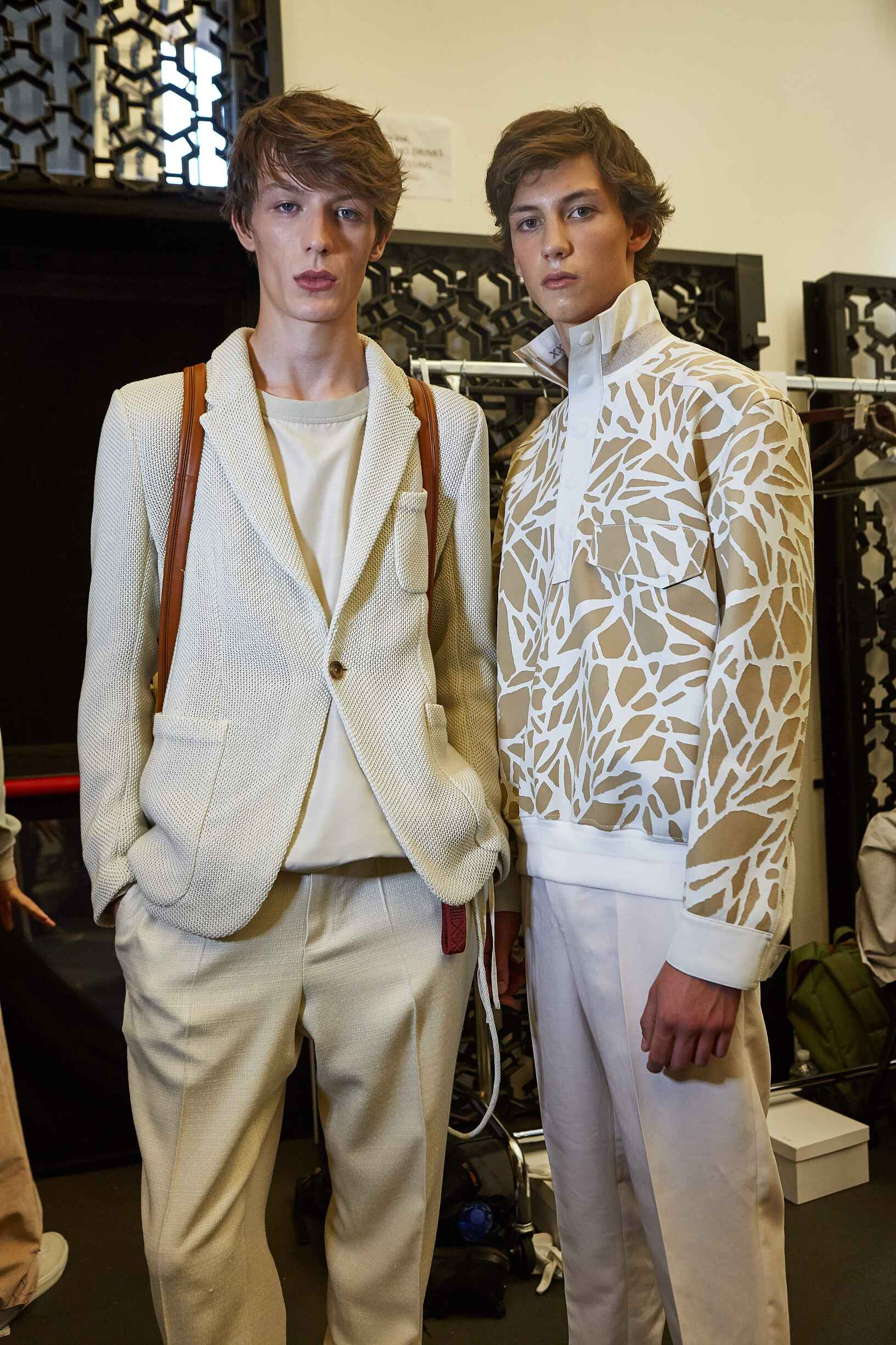Models Backstage Ermenegildo Zegna Couture Fashion Show 2018
