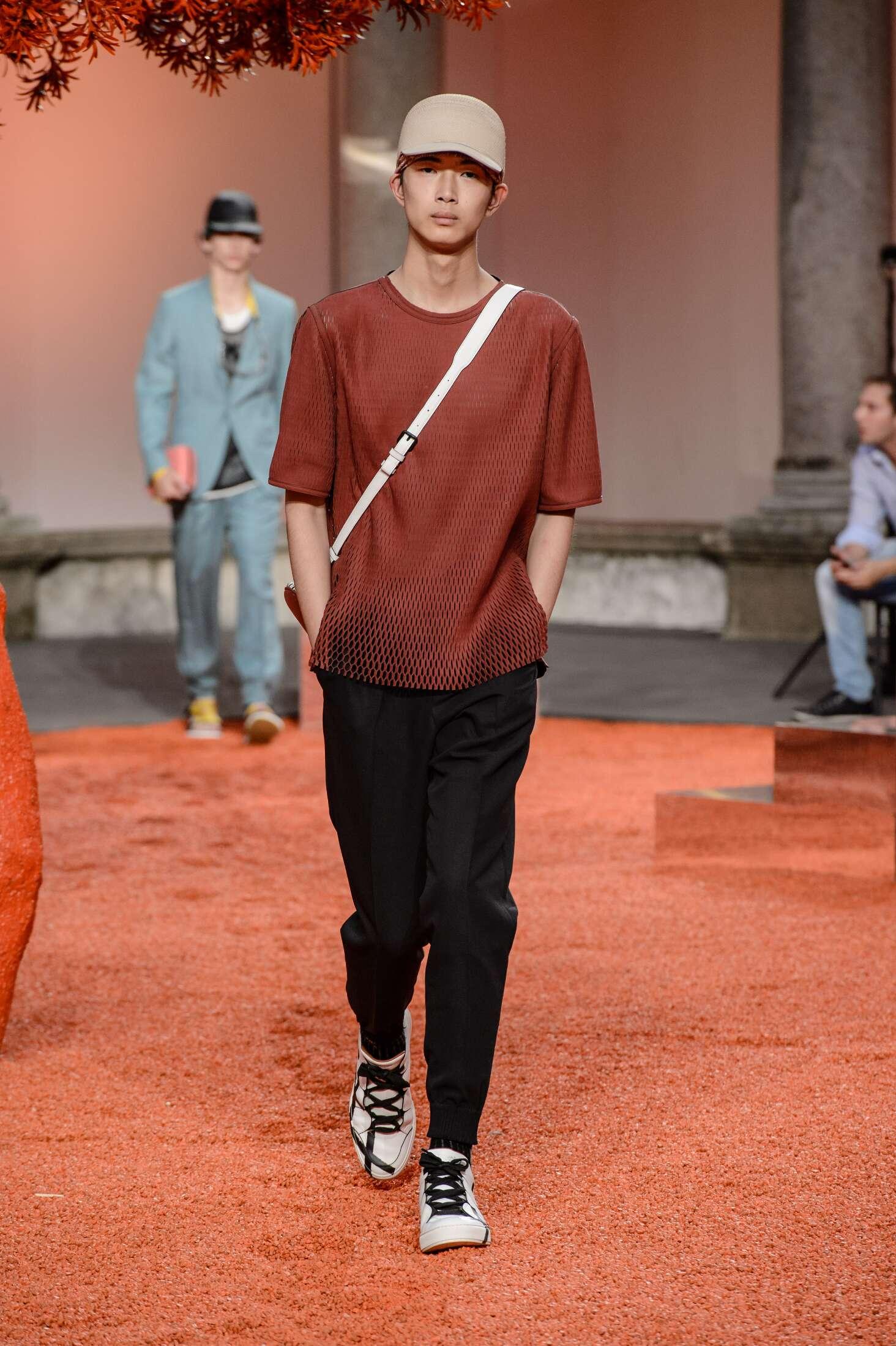 Runway Ermenegildo Zegna Couture Spring Summer 2018 Men's Collection Milan Fashion Week