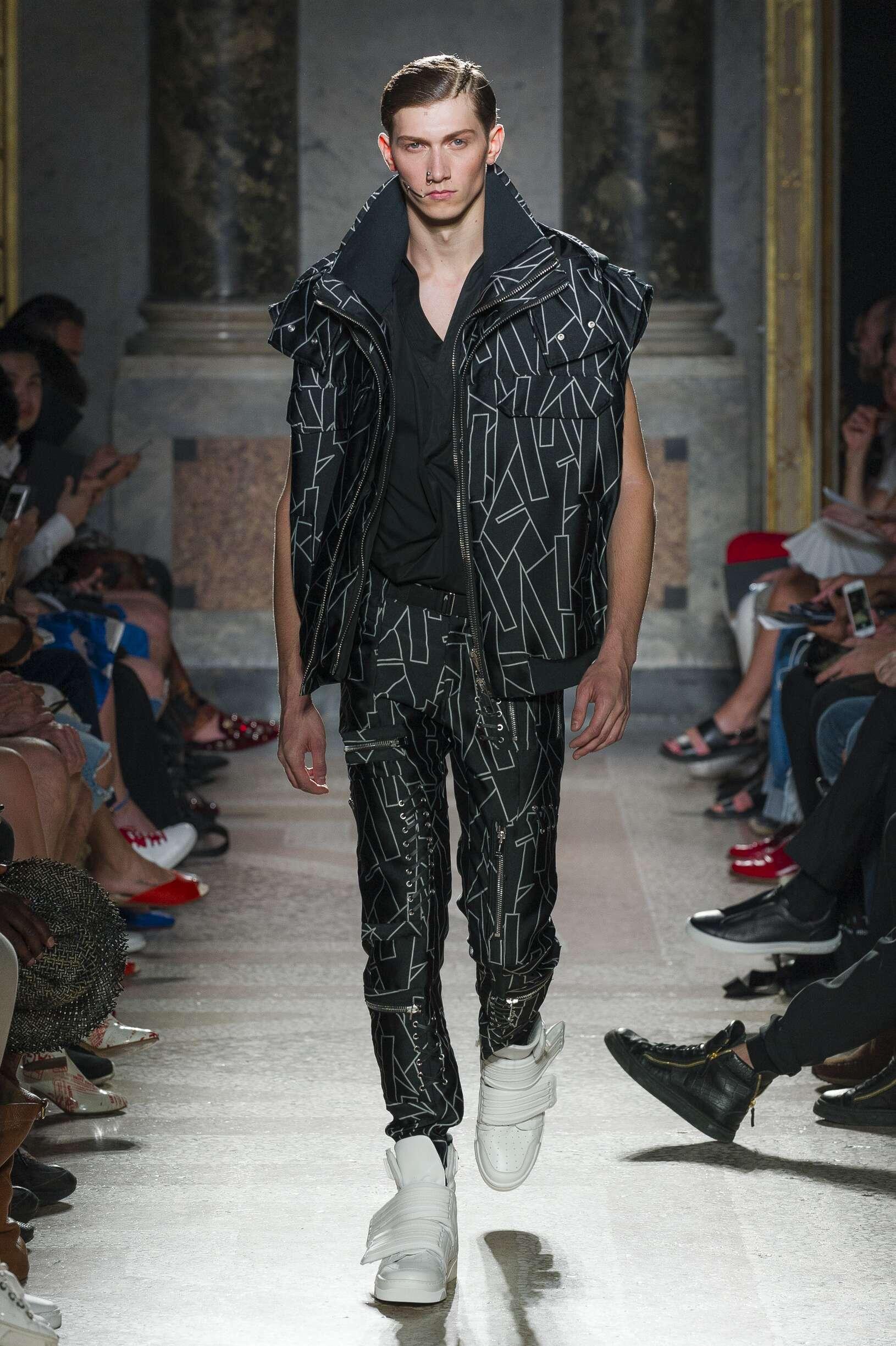 Runway Les Hommes Spring Summer 2018 Men's Collection Milan Fashion Week