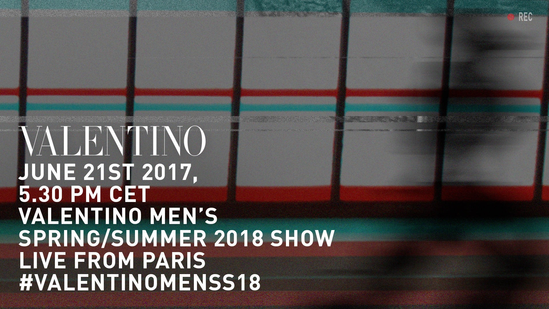 Valentino Men's Spring Summer 2018 Fashion Show Live Streaming Paris