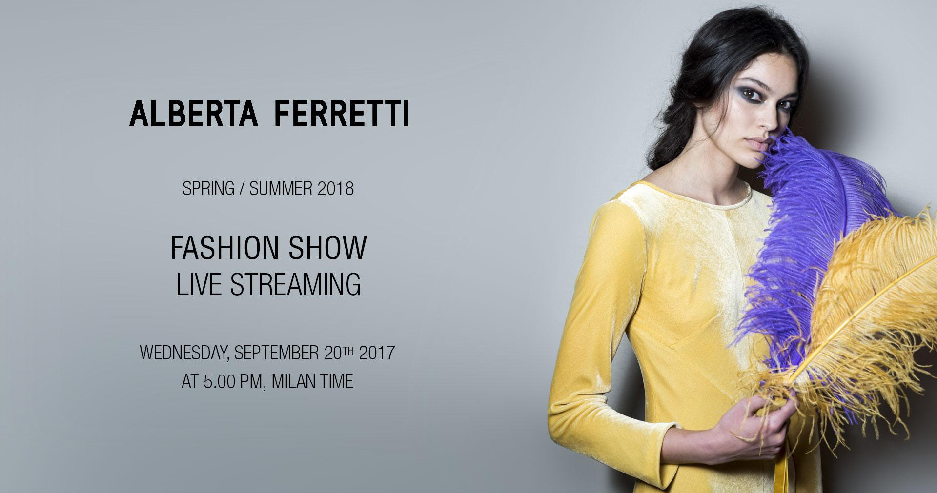 Alberta Ferretti Spring Summer 2018 Fashion Show Live Streaming Milan