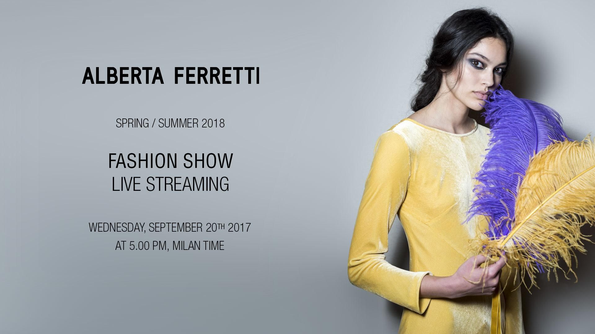 Alberta Ferretti Spring Summer 2018 Fashion Show Live Streaming