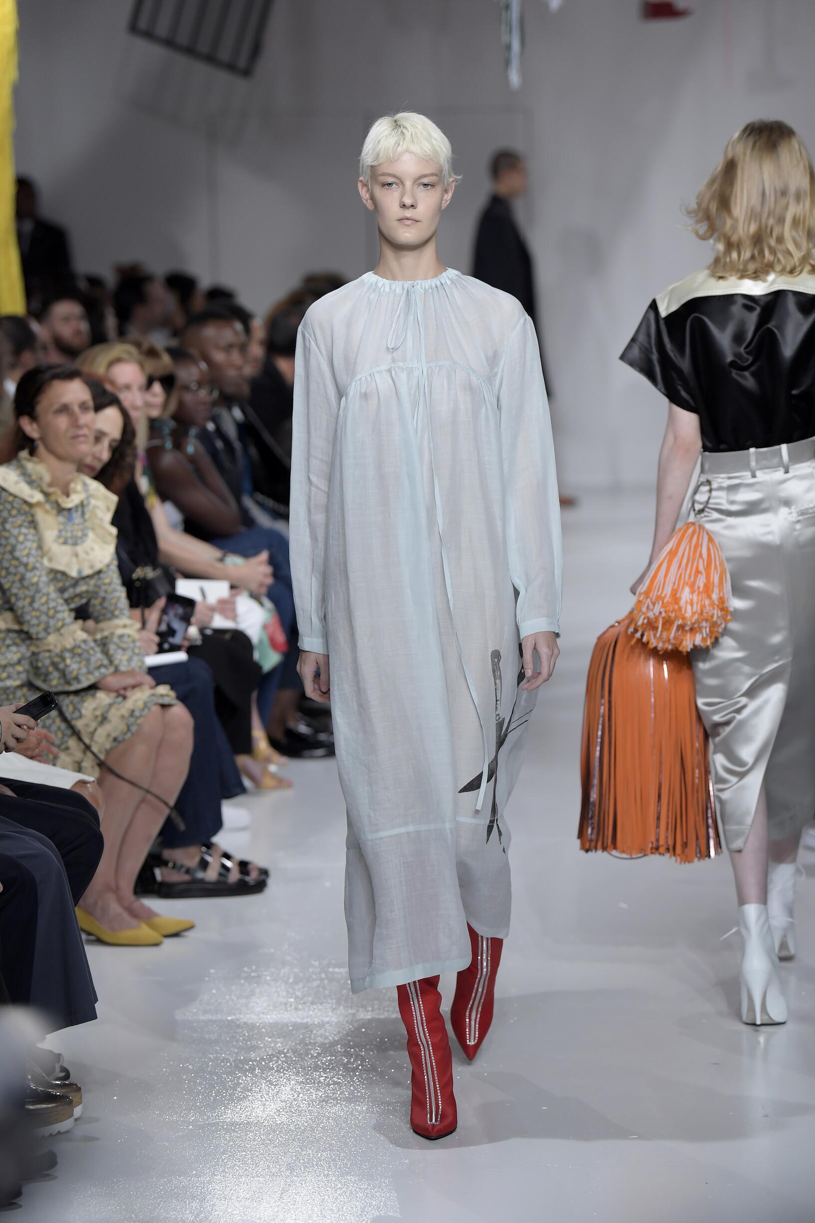 Fashion Model Calvin Klein 205W39NYC Catwalk