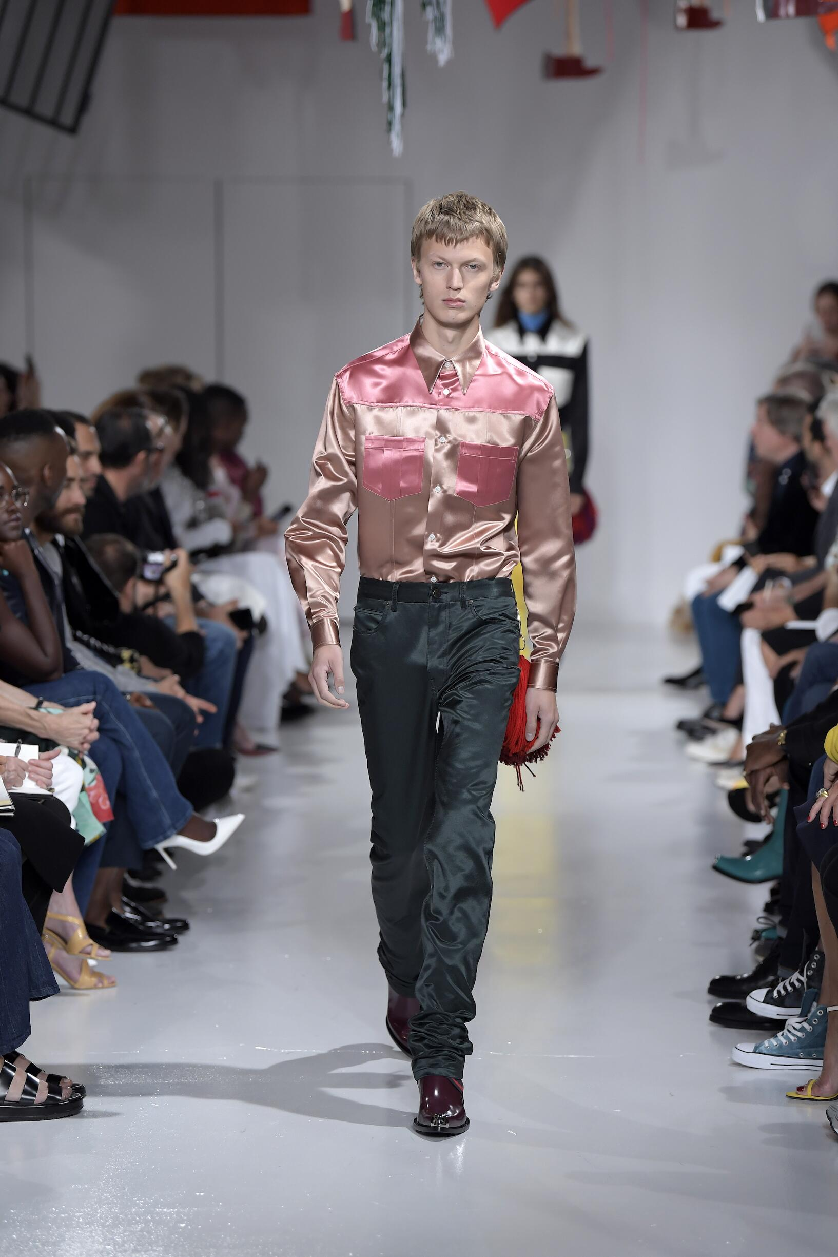 Model Fashion Show Calvin Klein 205W39NYC