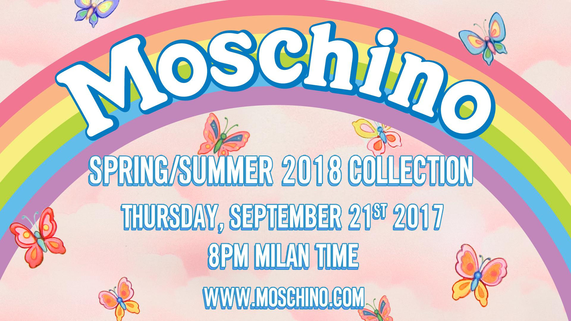 Moschino Spring Summer 2018 Fashion Show Live Streaming Milan