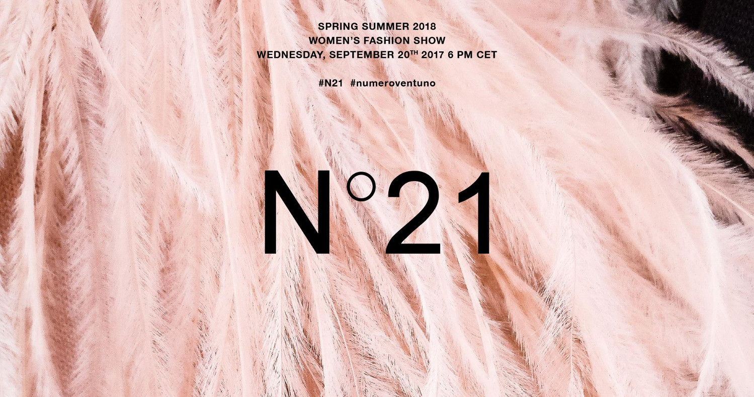 N°21 Spring Summer 2018 Fashion Show Live Streaming Milan