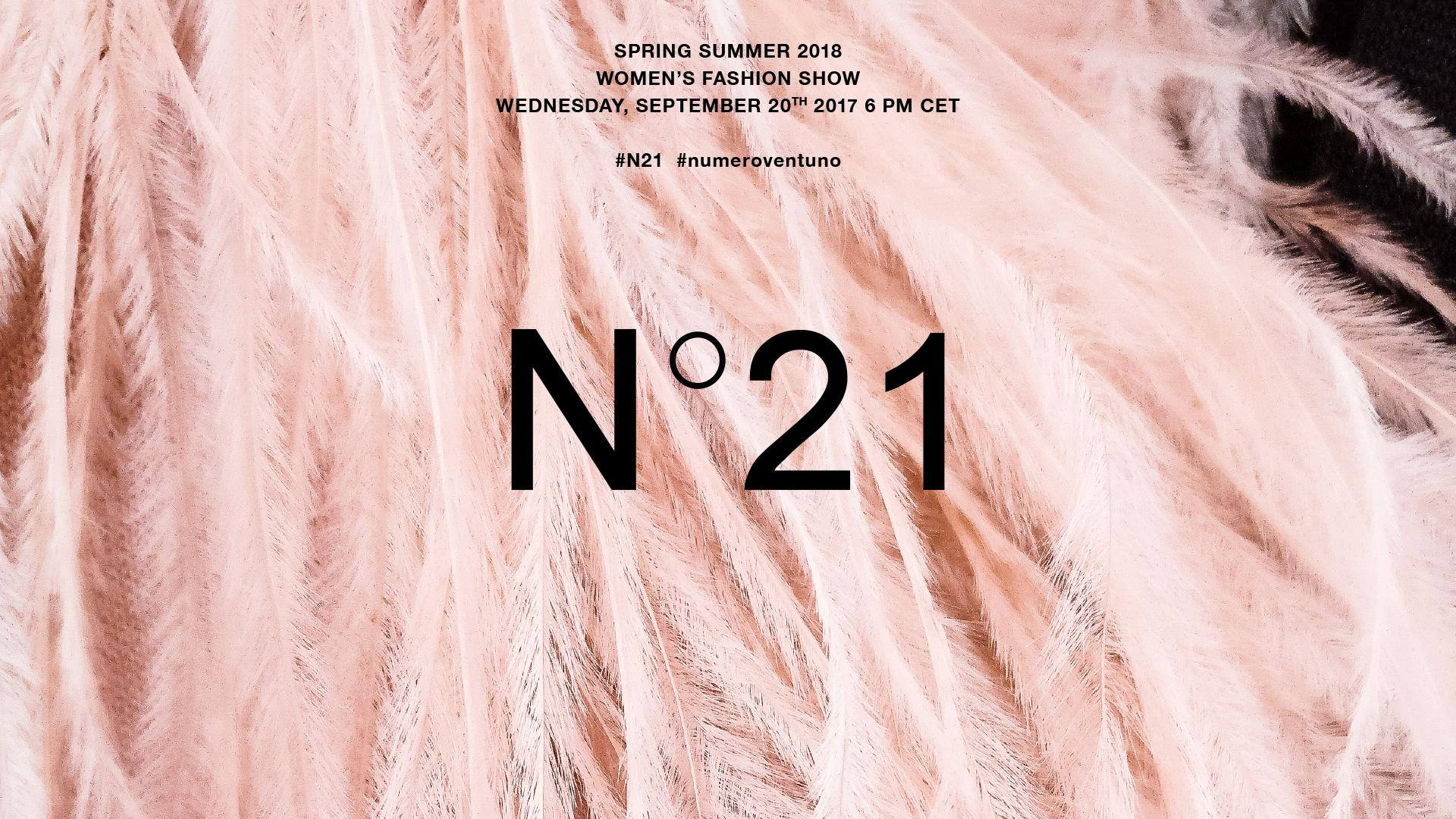 N°21 Spring Summer 2018 Fashion Show Live Streaming
