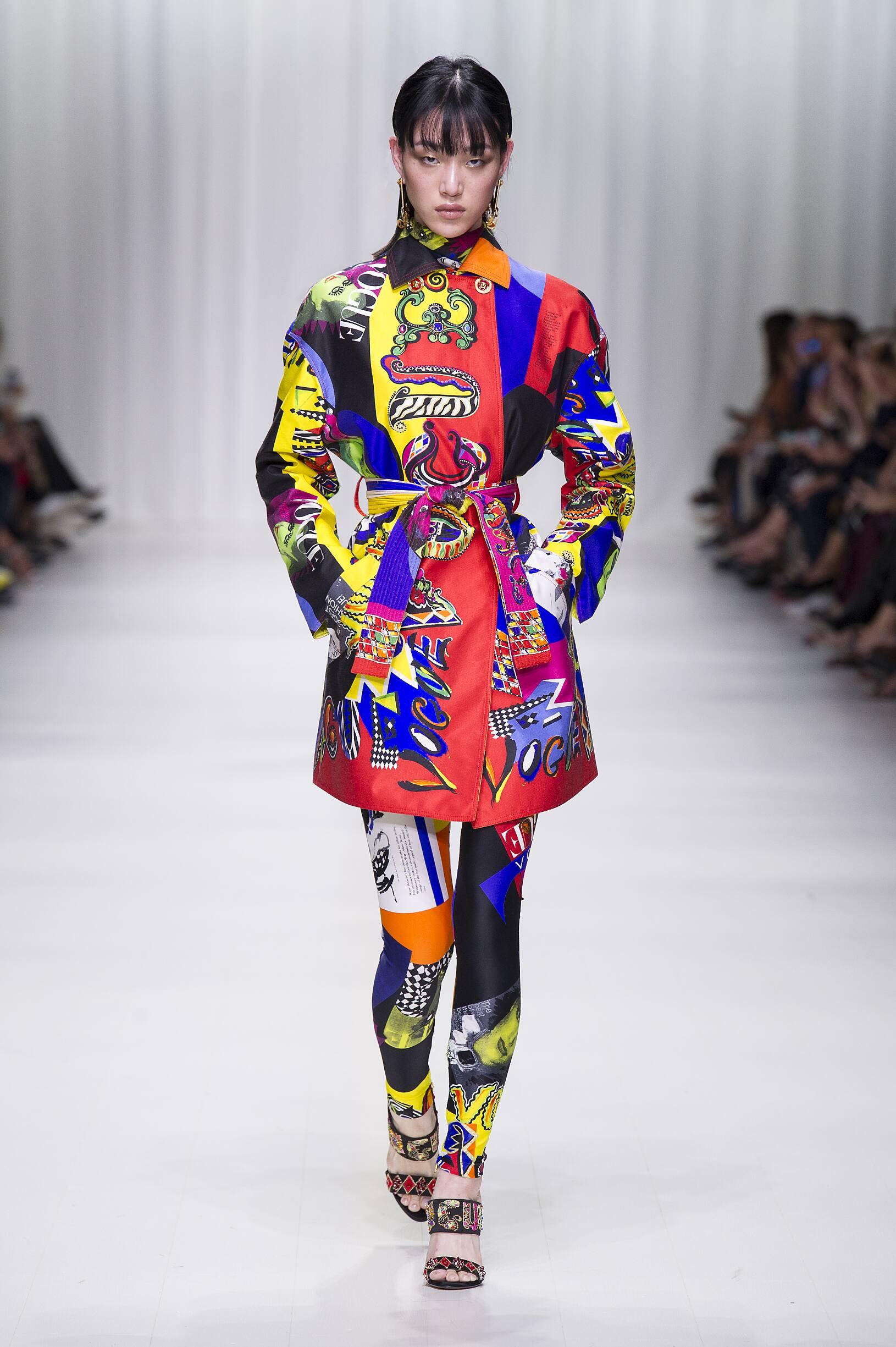 2018 Versace Catwalk Milan Fashion Week