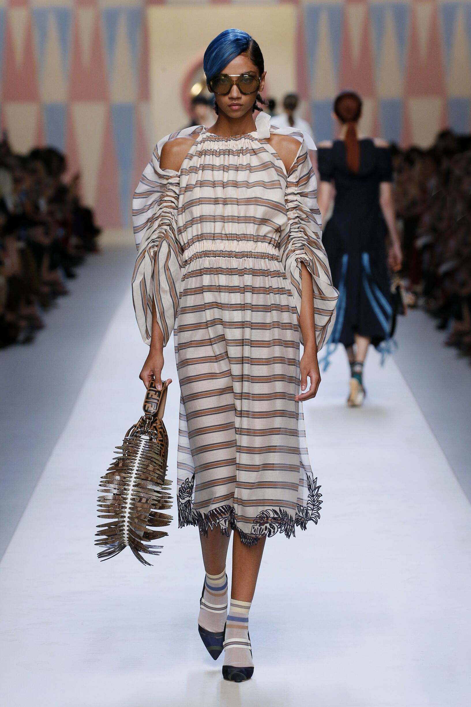 Catwalk Fendi Woman Fashion Show Summer 2018