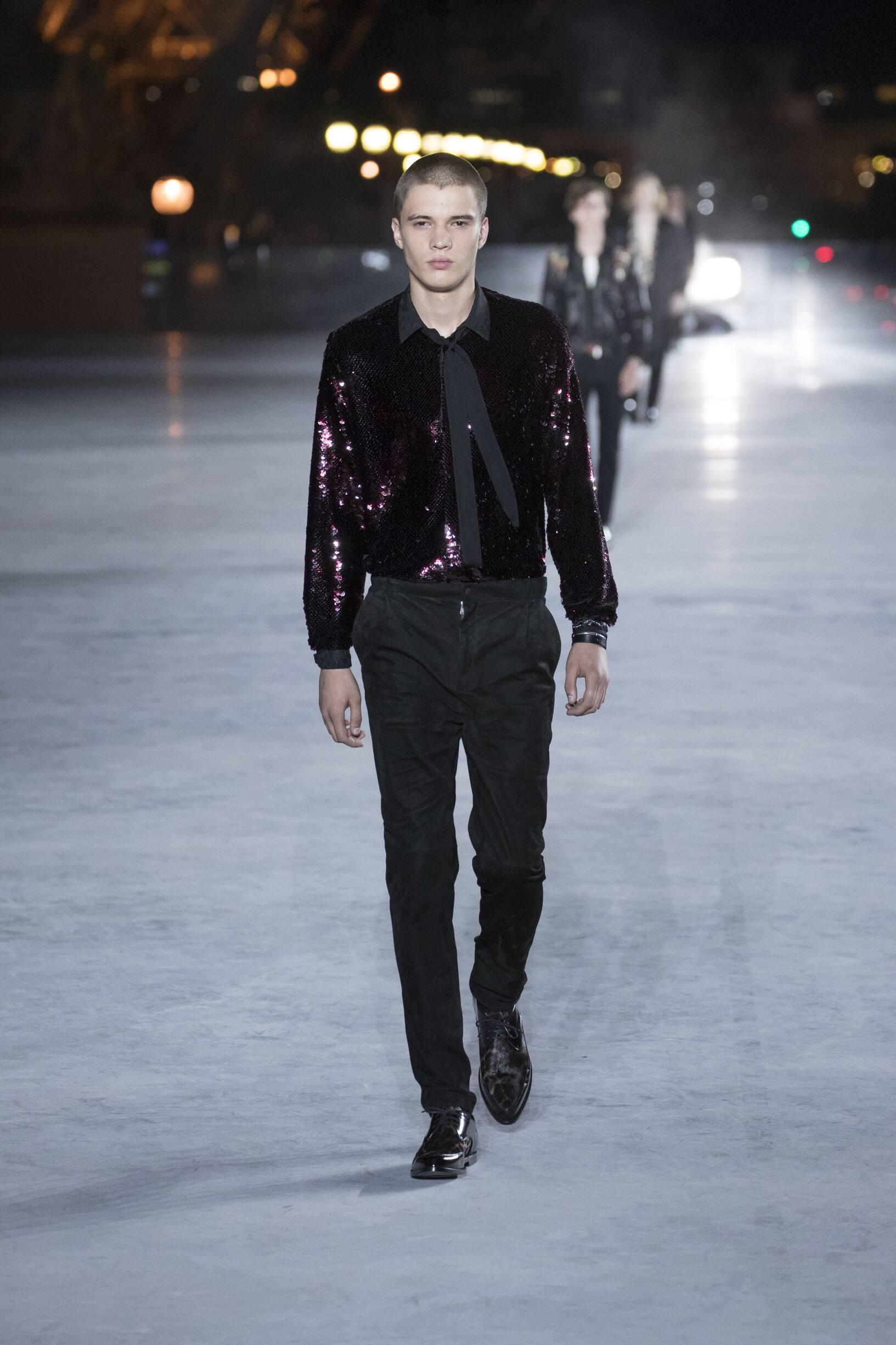 Catwalk Saint Laurent Man Fashion Show Summer 2018