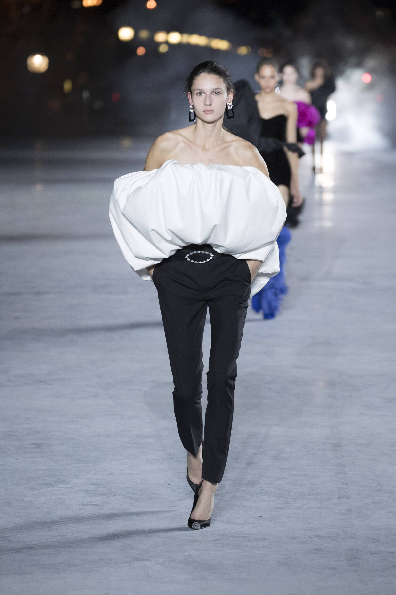 Catwalk Saint Laurent Woman Fashion Show Summer 2018