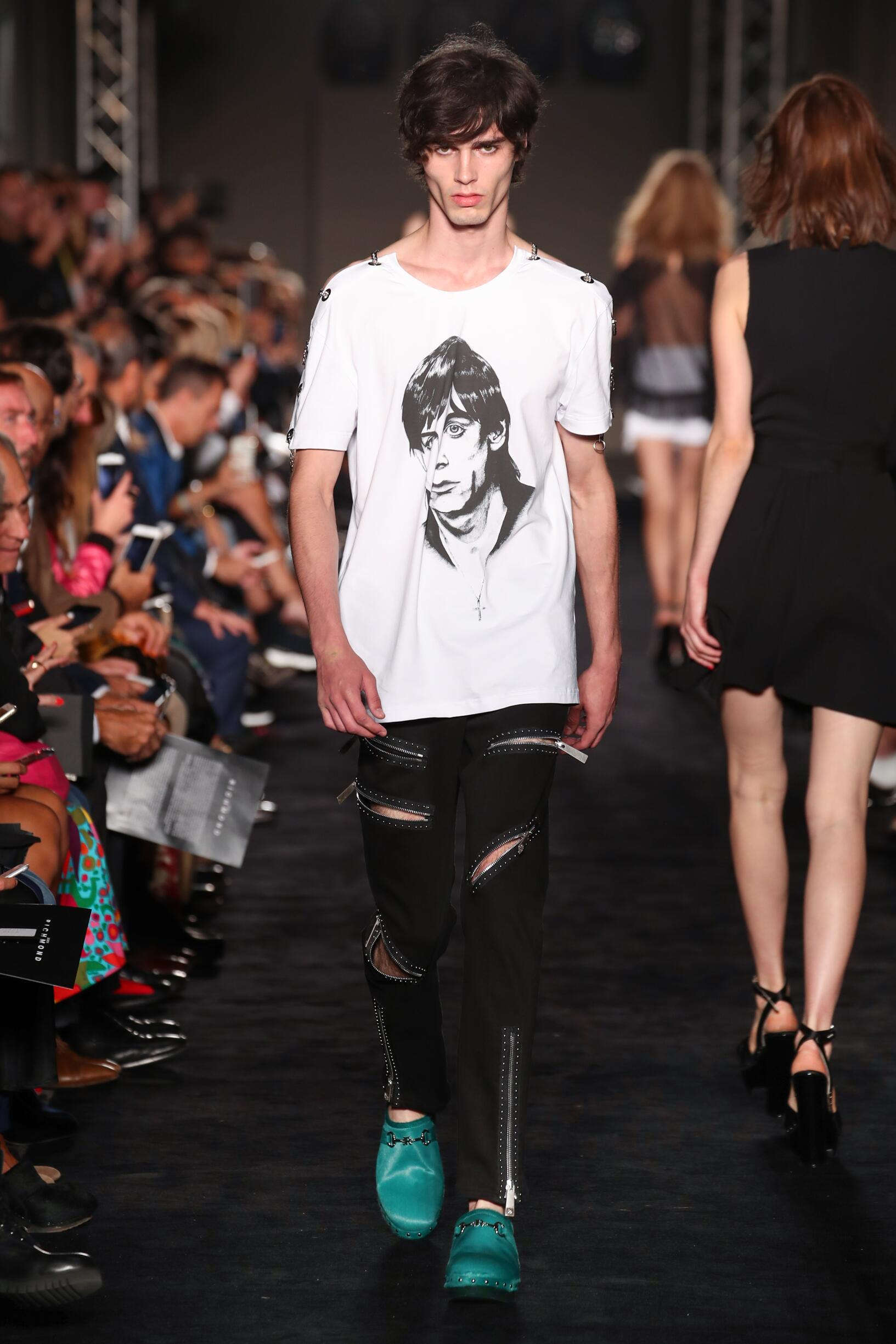 Fashion Man Model John Richmond Catwalk