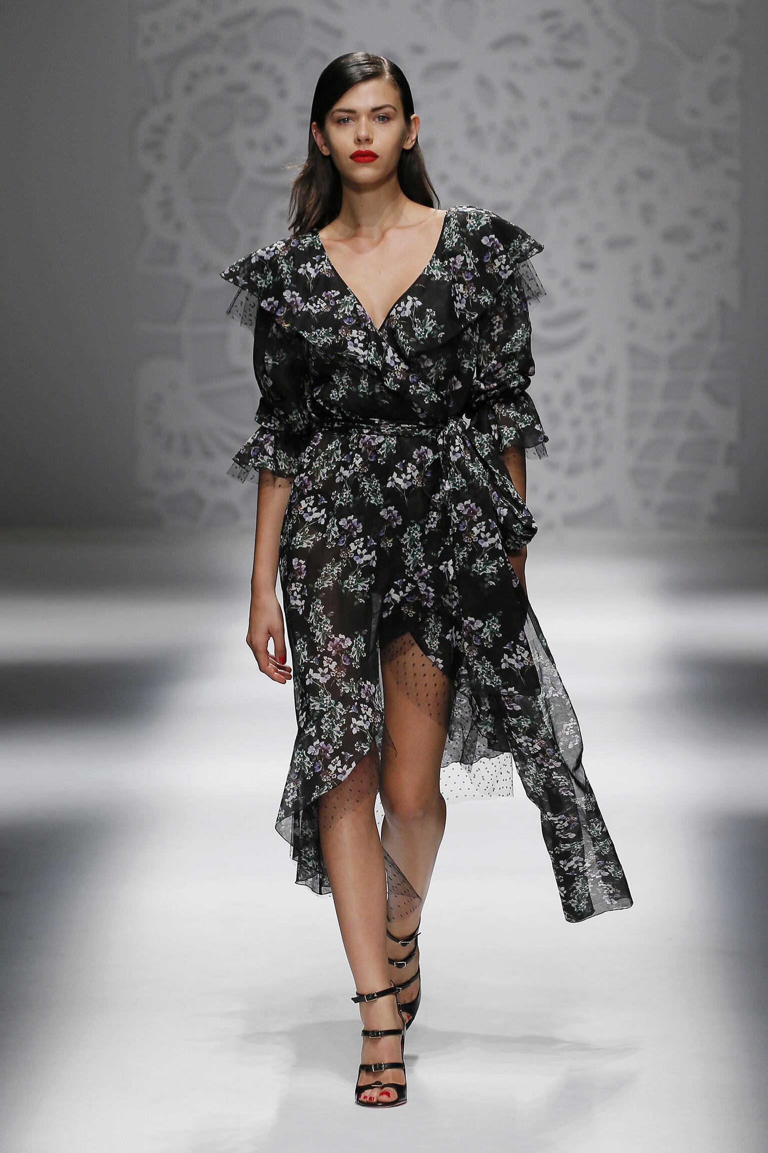 Fashion Model Blumarine Catwalk